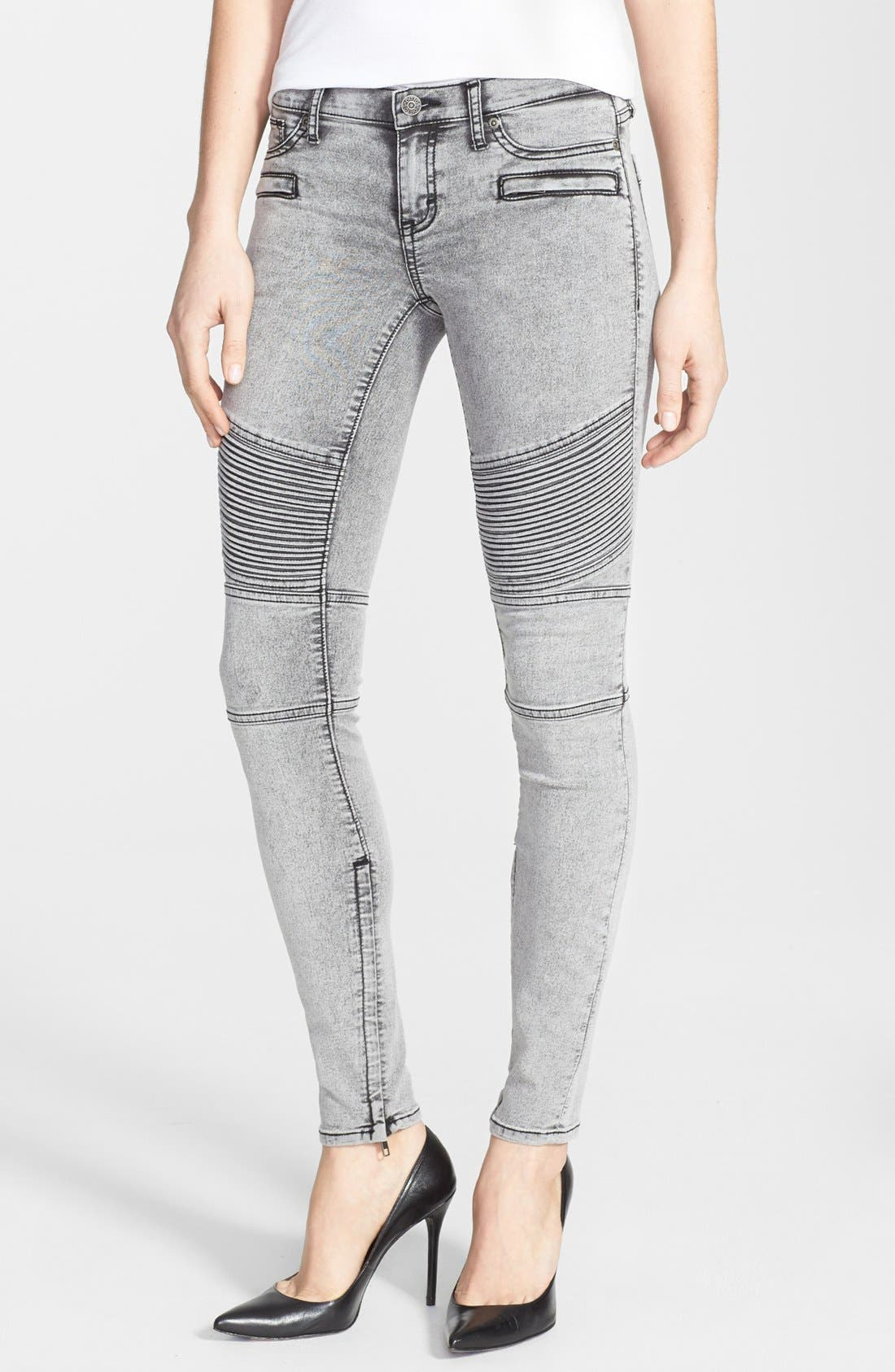 Alternate Image 1 Selected - Dittos 'Courtney' Low Rise Skinny Moto Jeans