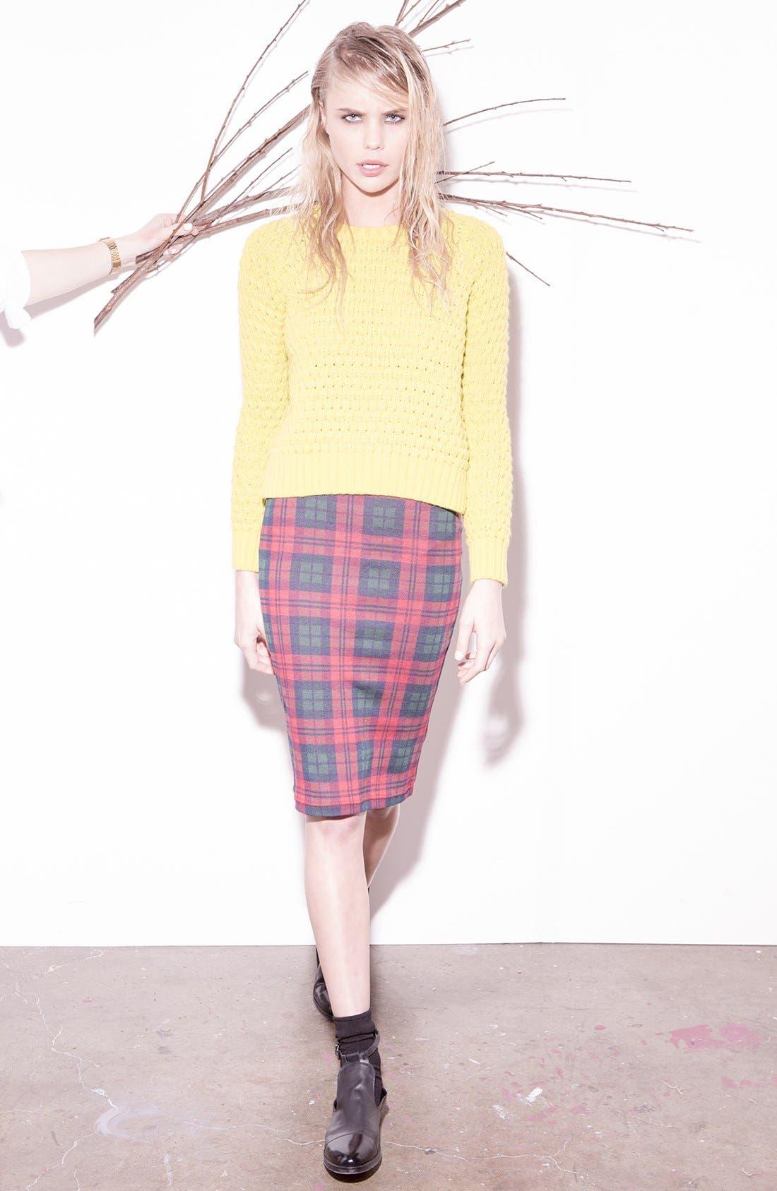 Alternate Image 5  - Topshop Check Print Tube Skirt