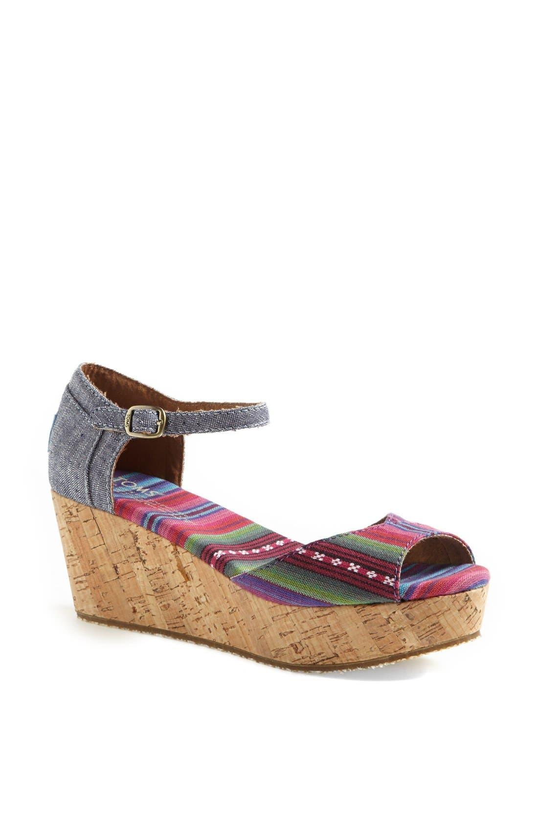 Alternate Image 1 Selected - TOMS Platform Wedge Sandal (Women)