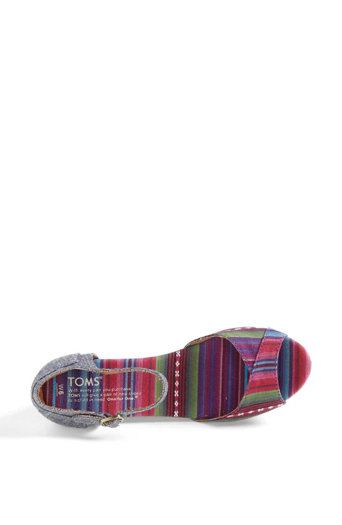 Alternate Image 3  - TOMS Platform Wedge Sandal (Women)