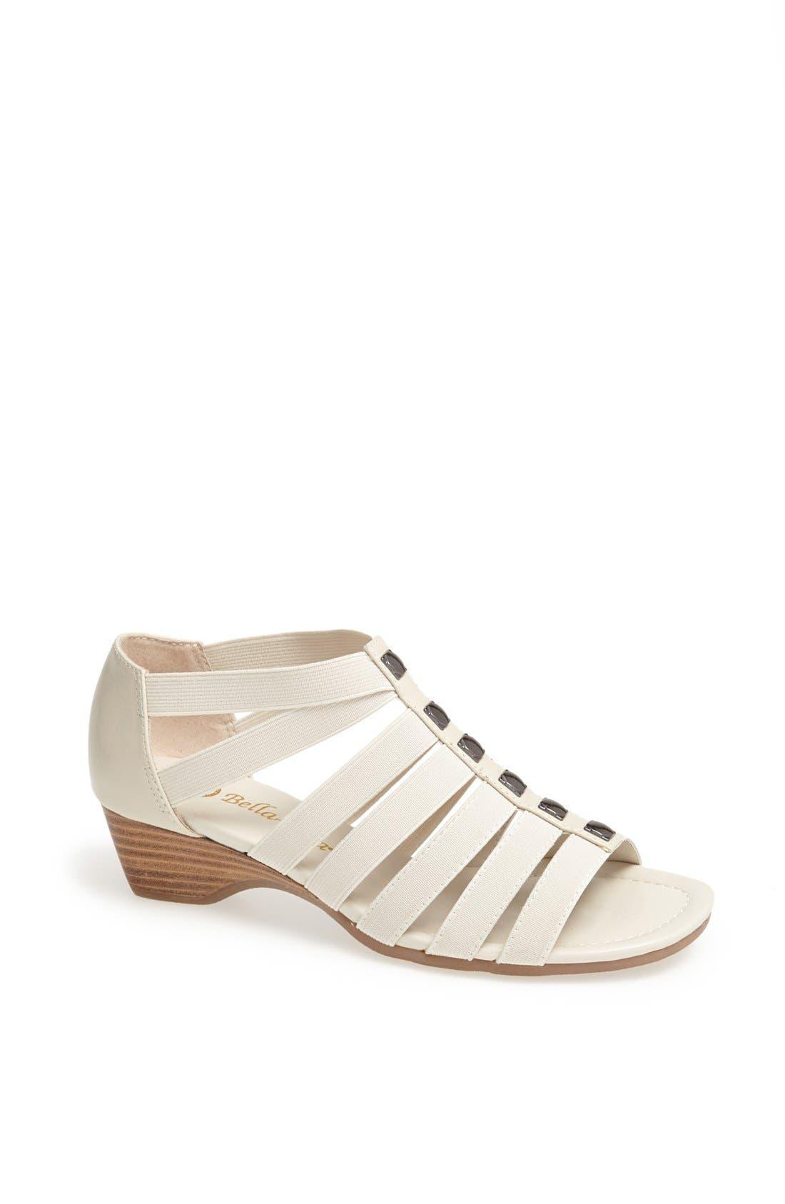 'Paula II' Sandal,                         Main,                         color, Bone