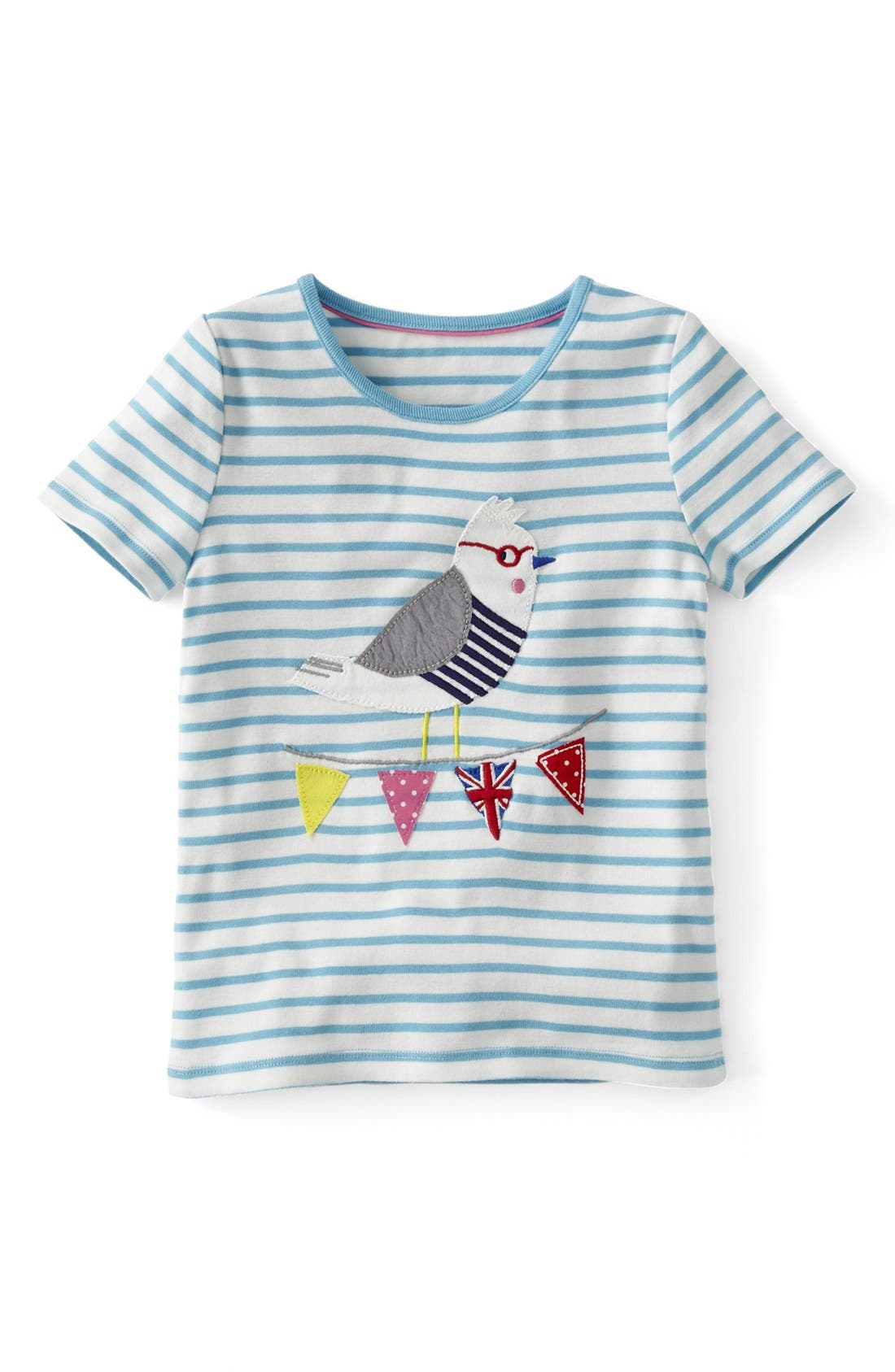 Alternate Image 1 Selected - Mini Boden 'Seaside' Appliqué Tee (Little Girls & Big Girls)