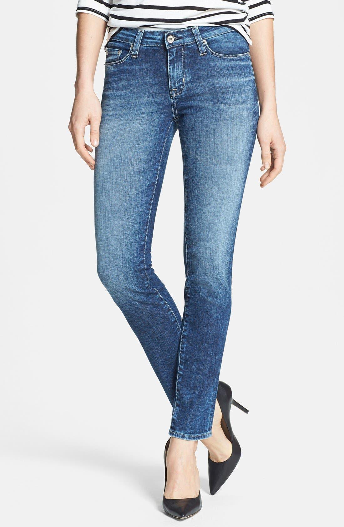Alternate Image 1 Selected - Big Star 'Bridgett' Slim Fit Straight Leg Jeans (10 Year Ocean)