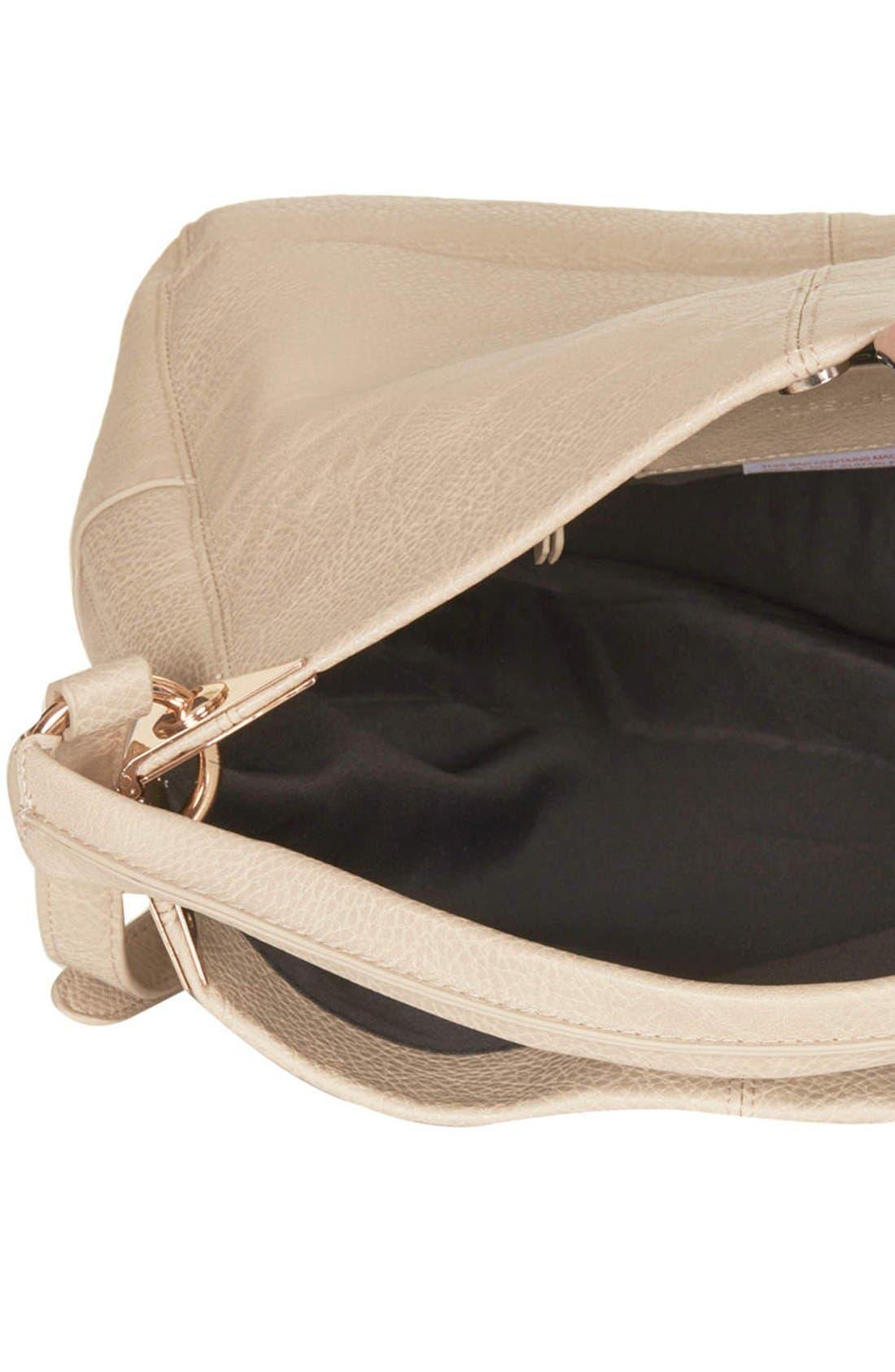 Alternate Image 3  - Topshop Faux Leather Hobo Bag