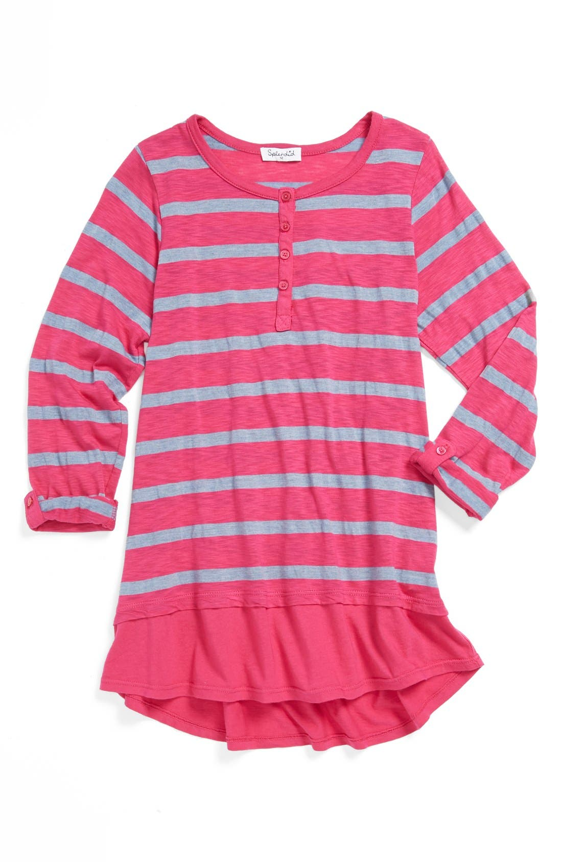 Alternate Image 1 Selected - Splendid Stripe Henley (Big Girls)