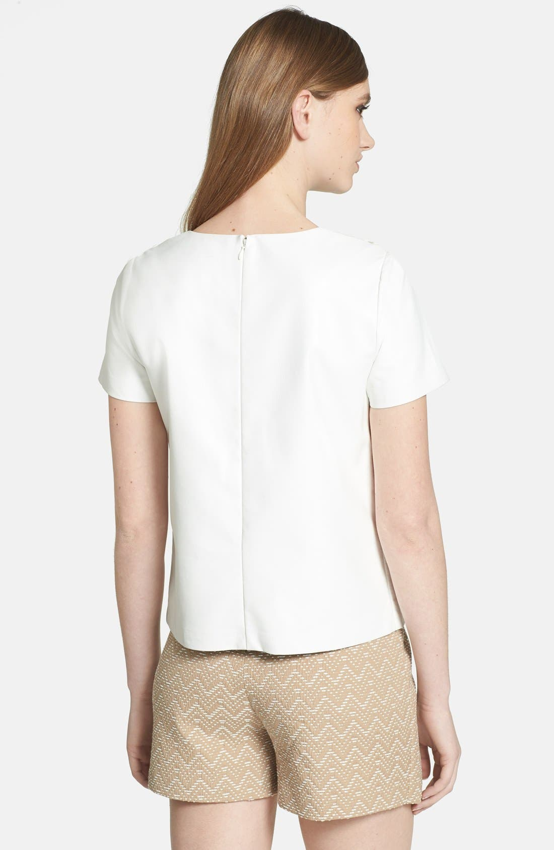 Alternate Image 2  - 1.STATE Lace Up Shoulder Faux Leather Top