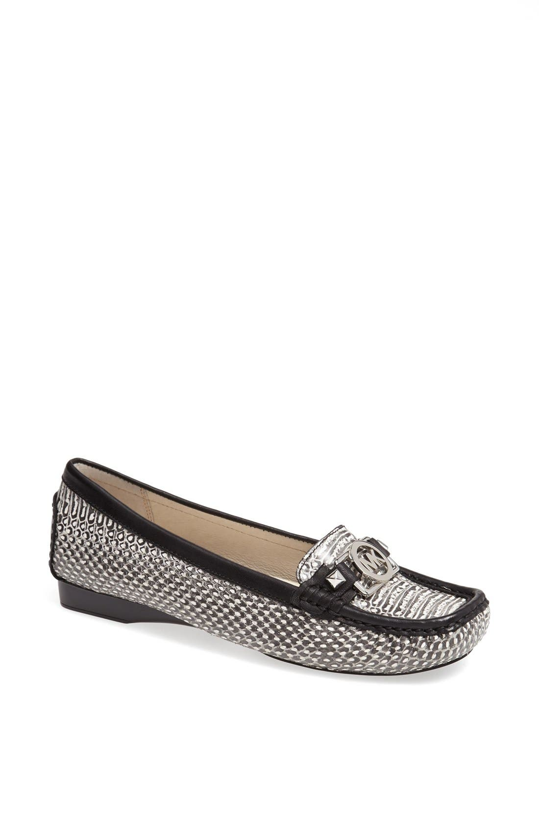 Main Image - MICHAEL Michael Kors 'Charm' Snake Embossed Leather Flat