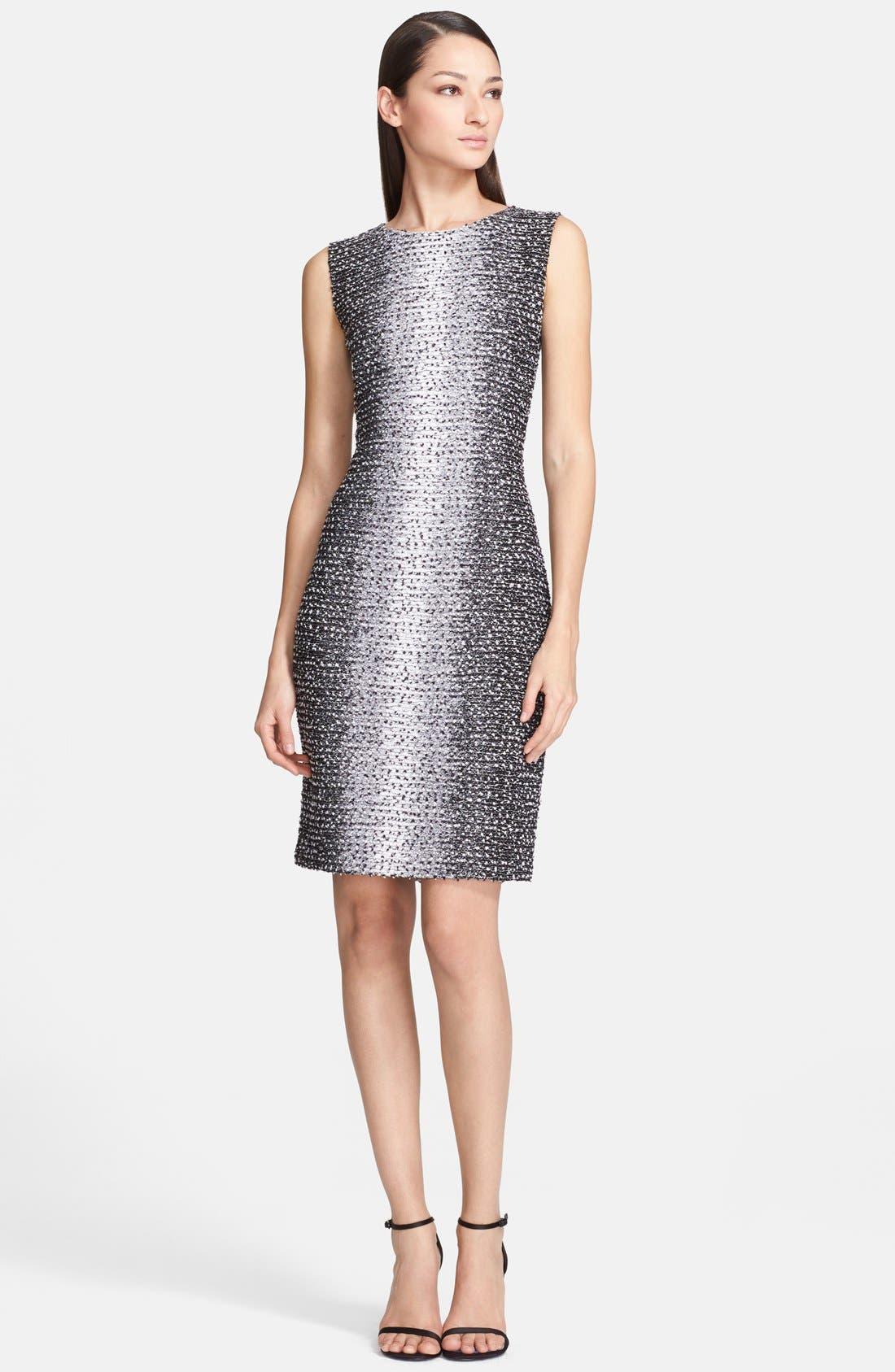 Alternate Image 1 Selected - St. John Collection Ombré Eyelash Knit Sheath Dress