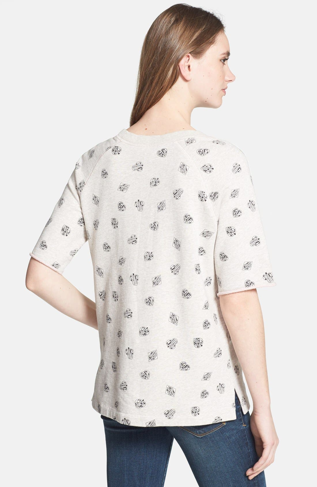 Alternate Image 2  - MARC BY MARC JACOBS 'Playing Cards' Print Sweatshirt