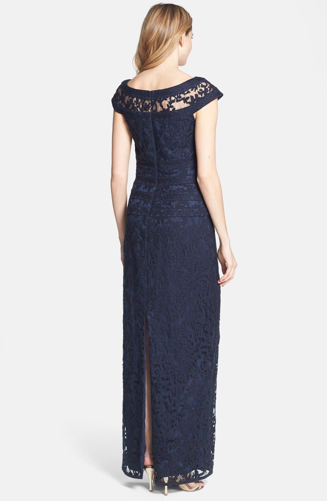 Alternate Image 2  - Tadashi Shoji Embroidered Lace Gown