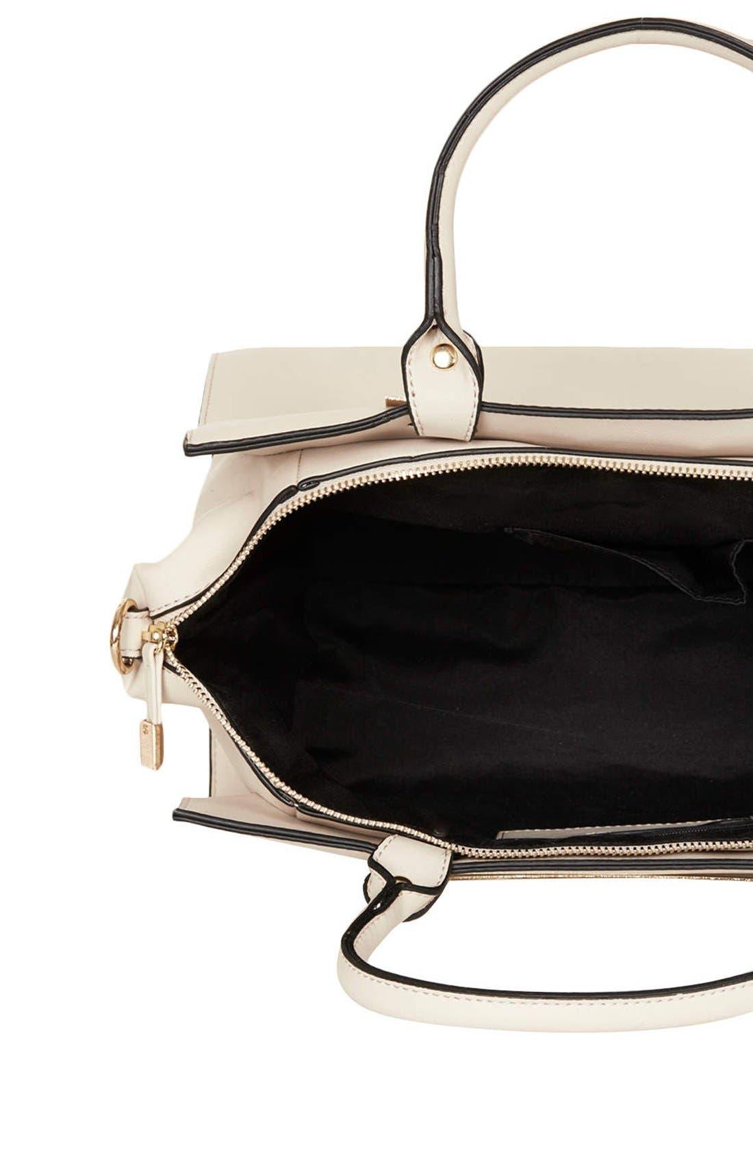 Alternate Image 3  - Topshop Faux Leather Handbag