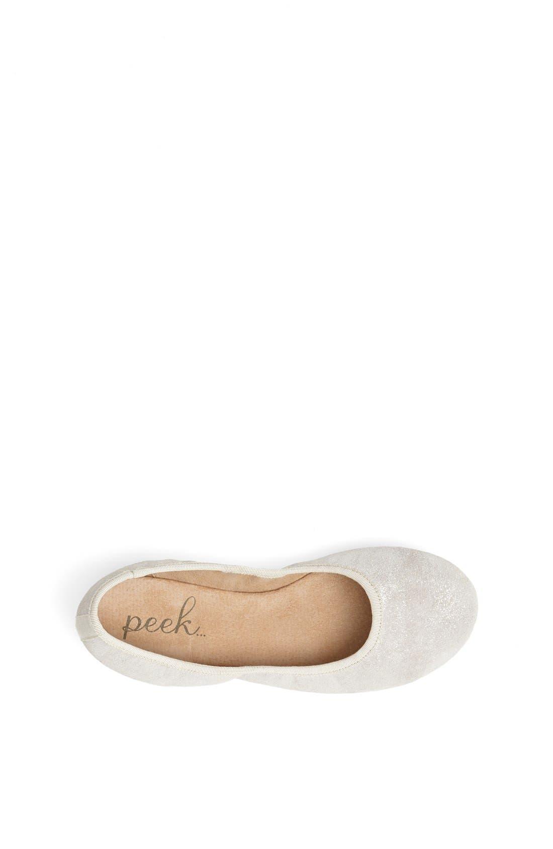 Alternate Image 3  - Peek 'Dita' Ballet Flat (Toddler, Little Kid & Big Kid)