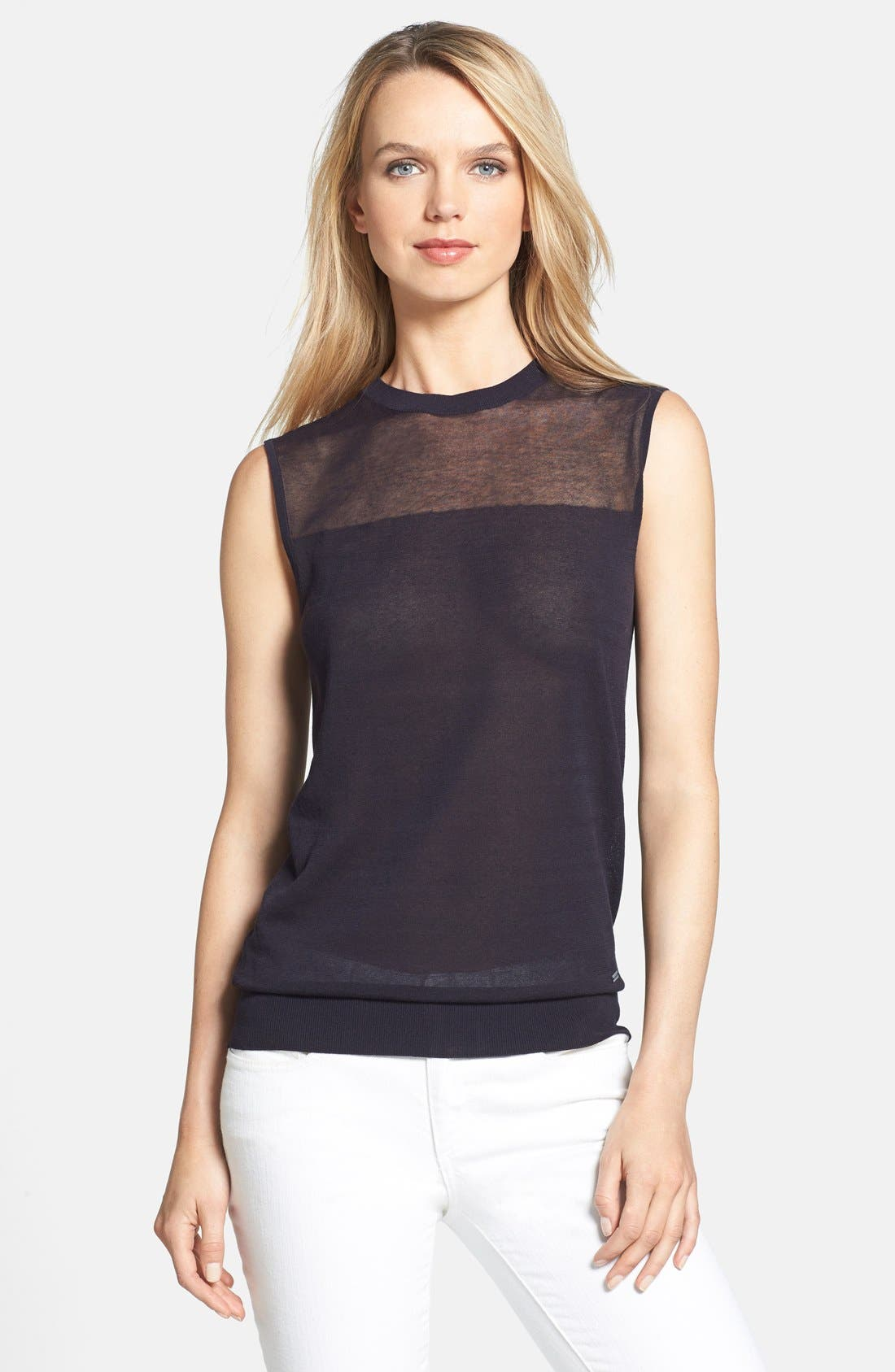 Alternate Image 1 Selected - Tory Burch 'Harriet' Knit Shell