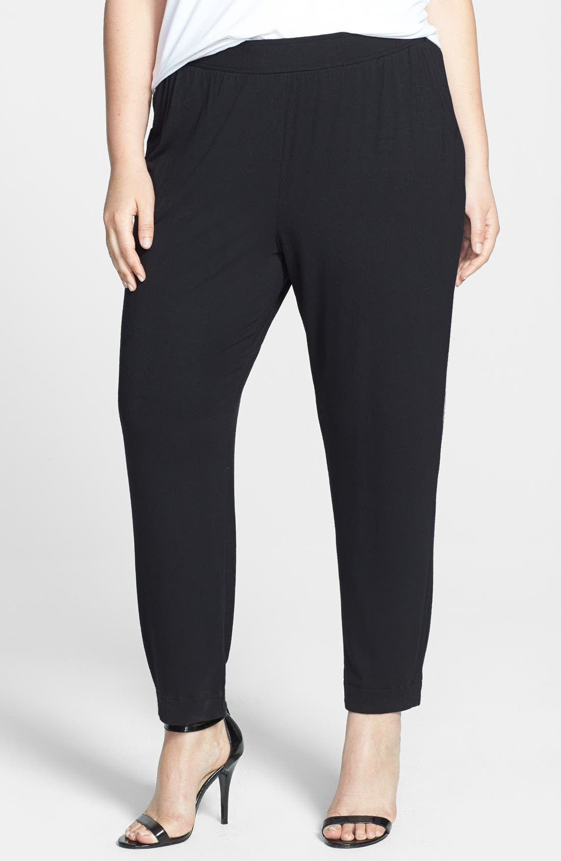 Alternate Image 1 Selected - Sejour Knit Ankle Pants (Plus Size)