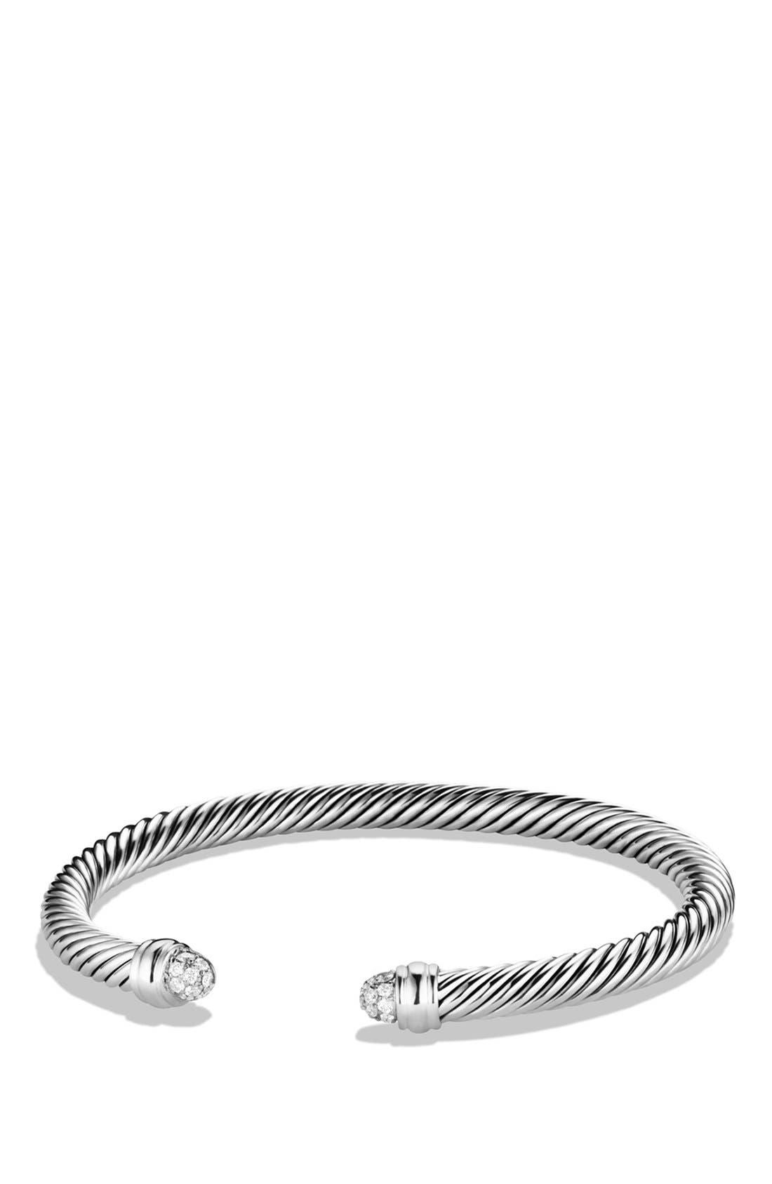 Cable Classics Bracelet with Diamonds, 5mm,                             Main thumbnail 1, color,                             Diamond