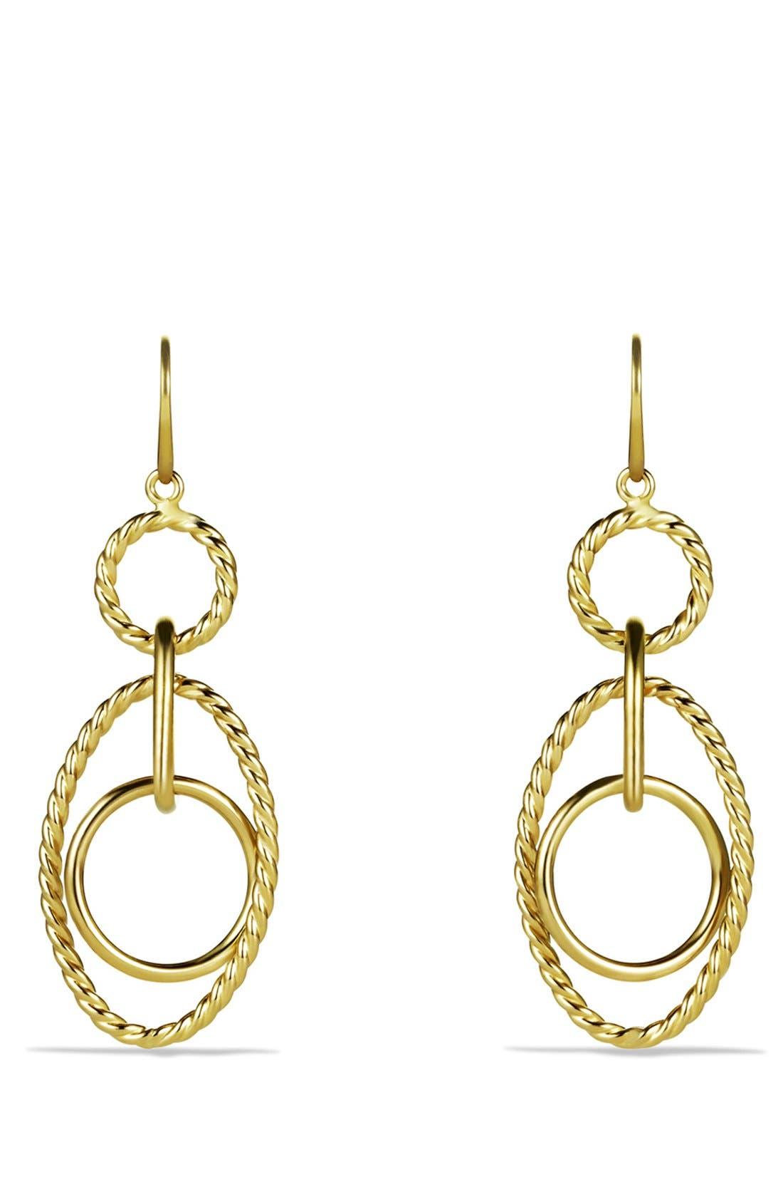 DAVID YURMAN Mobile Small Link Earrings in Gold
