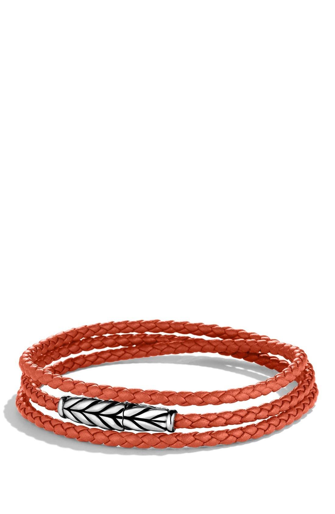 Alternate Image 1 Selected - David Yurman 'Chevron' Triple-Wrap Bracelet