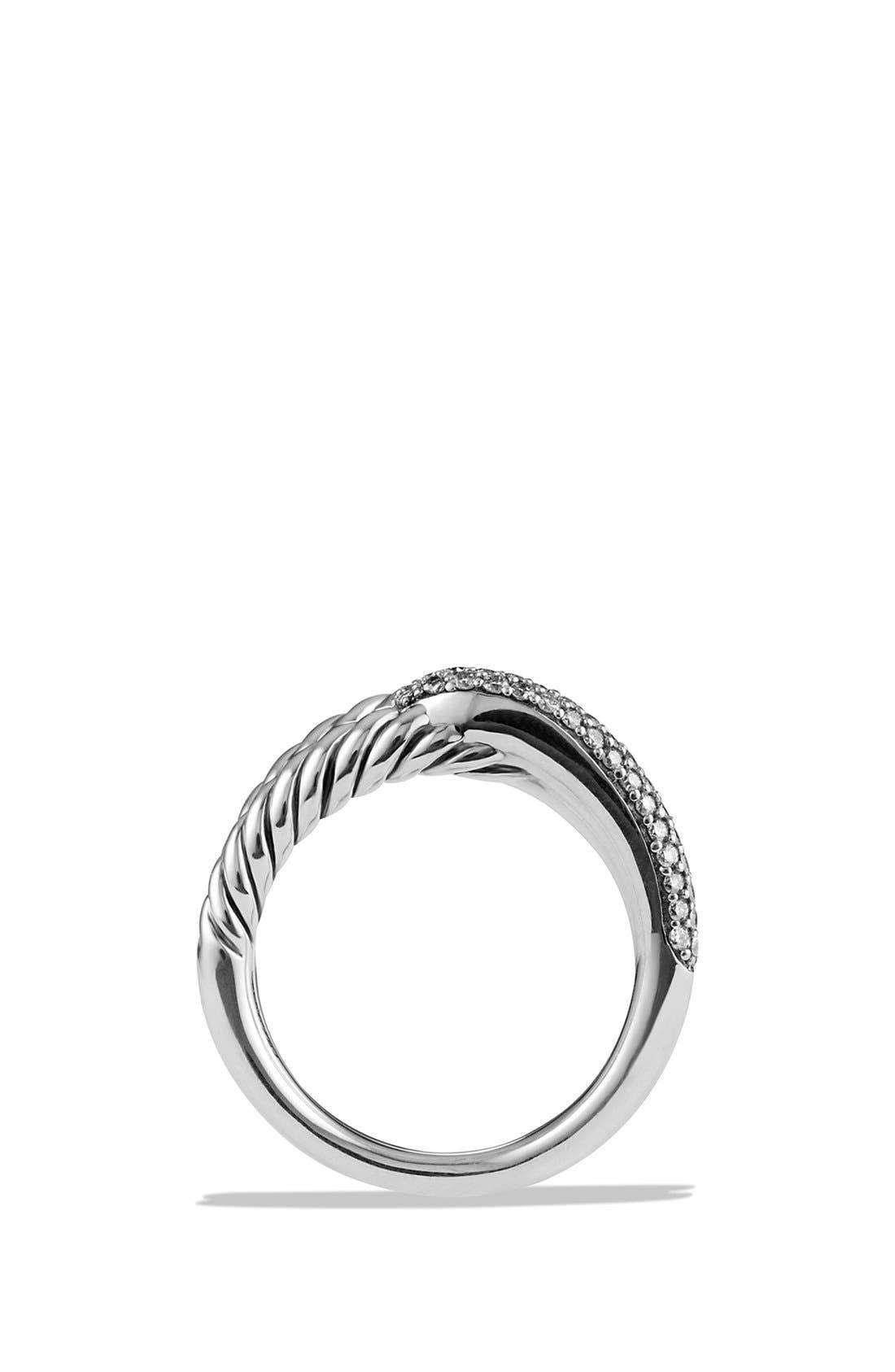 'Labyrinth' Single Loop Ring with Diamonds,                             Alternate thumbnail 3, color,                             Diamond