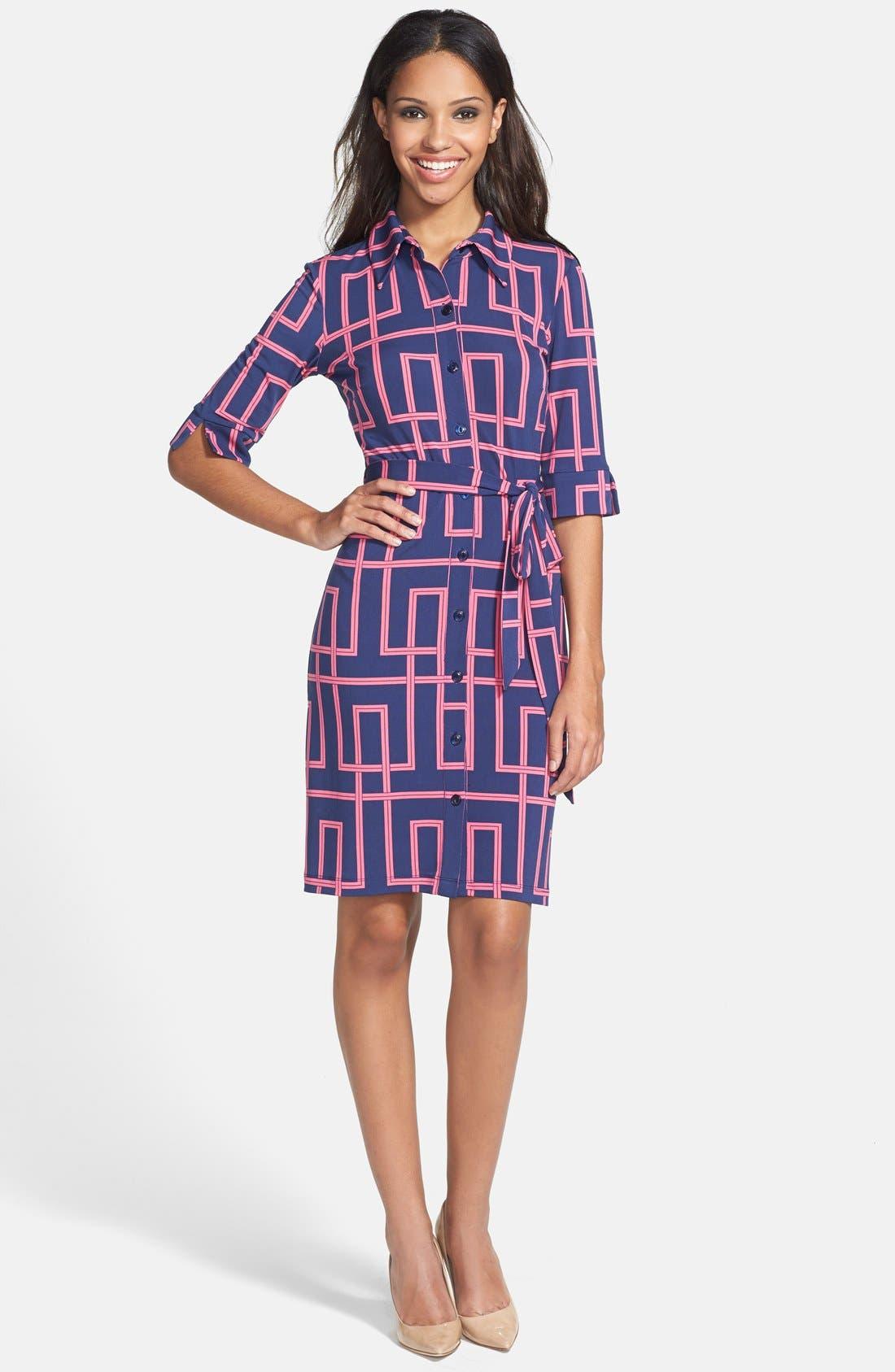 Alternate Image 3  - Maggy London Print Jersey Shirtdress