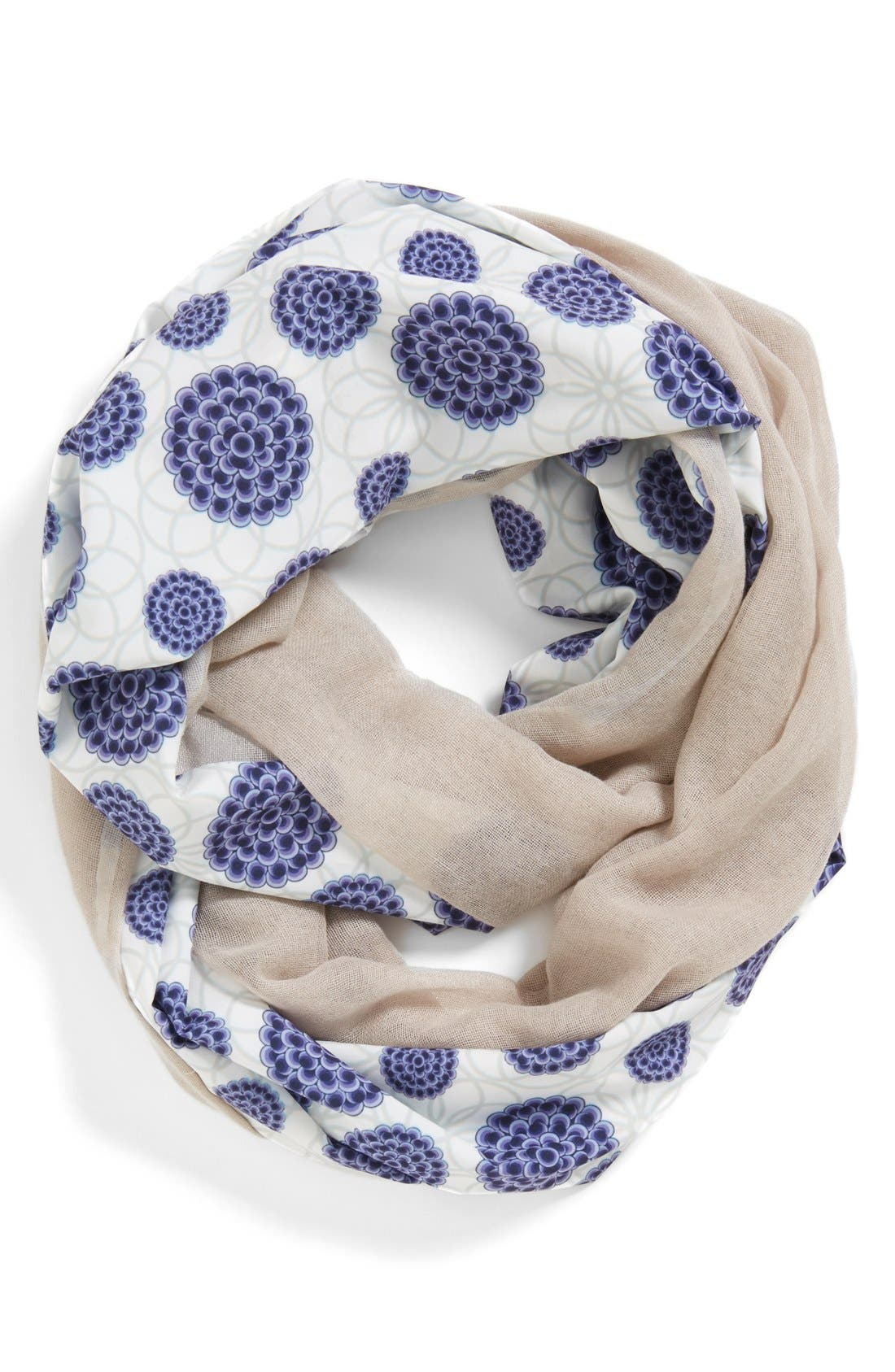 Main Image - Leith Floral Print Infinity Scarf