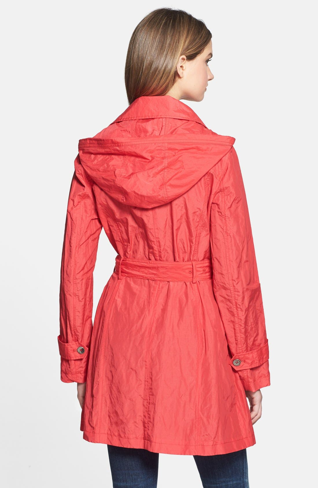Alternate Image 2  - Cole Haan Double Breasted Packable Metallic Trench Coat