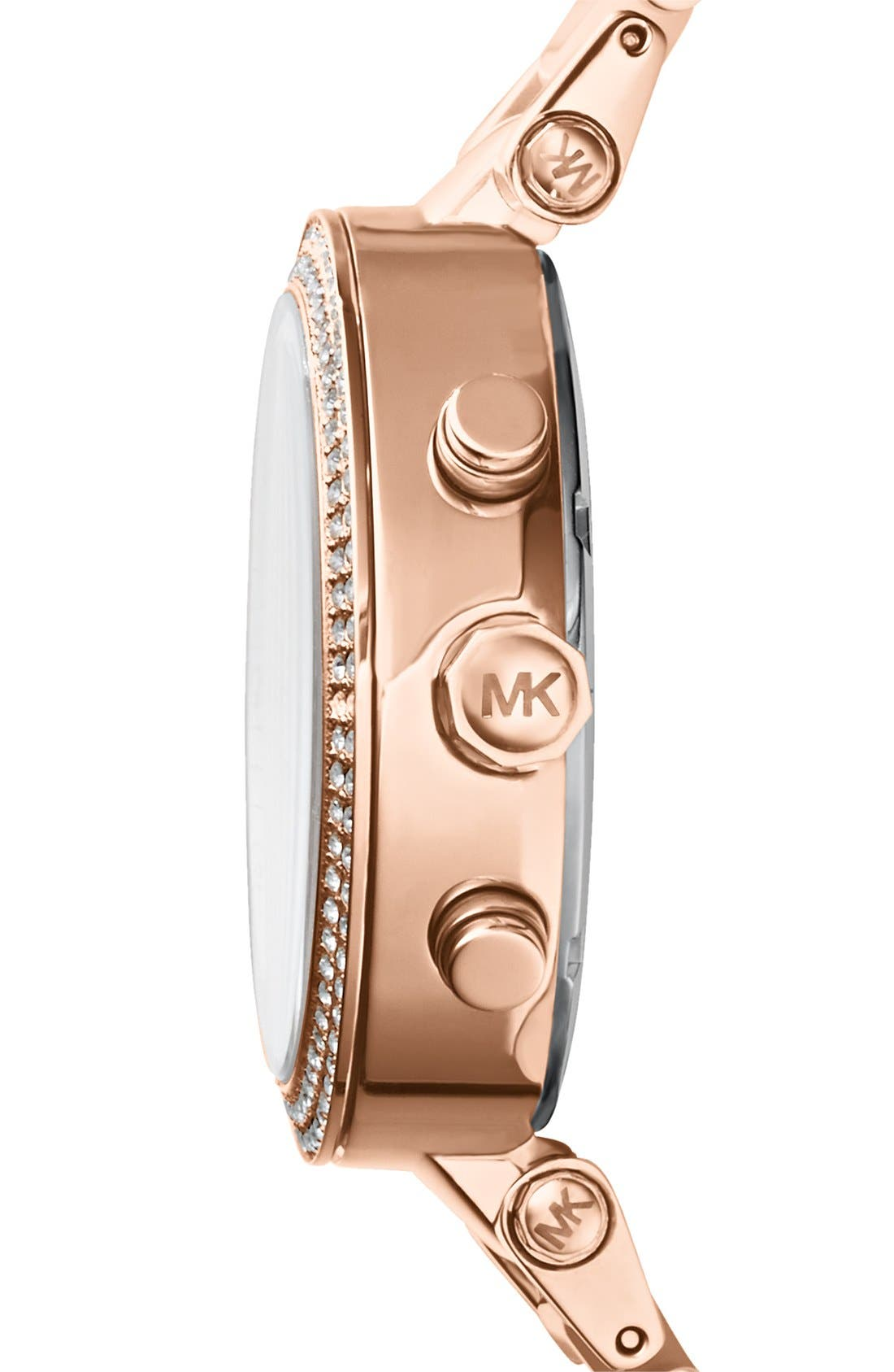 Alternate Image 3  - Michael Kors 'Parker' Blush Acetate Link Chronograph Watch, 39mm