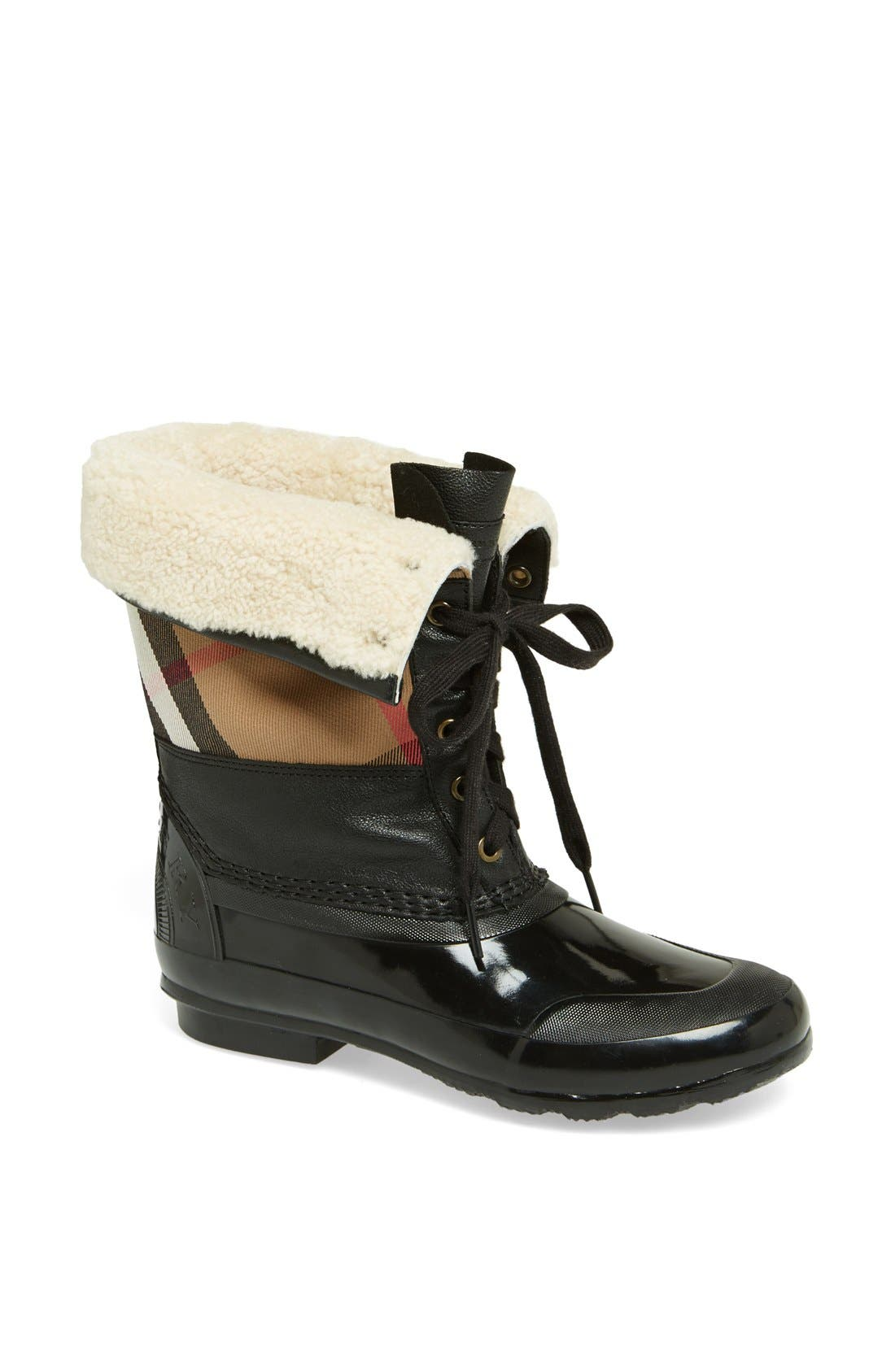 Alternate Image 1 Selected - Burberry 'Danning' Waterproof Bootie