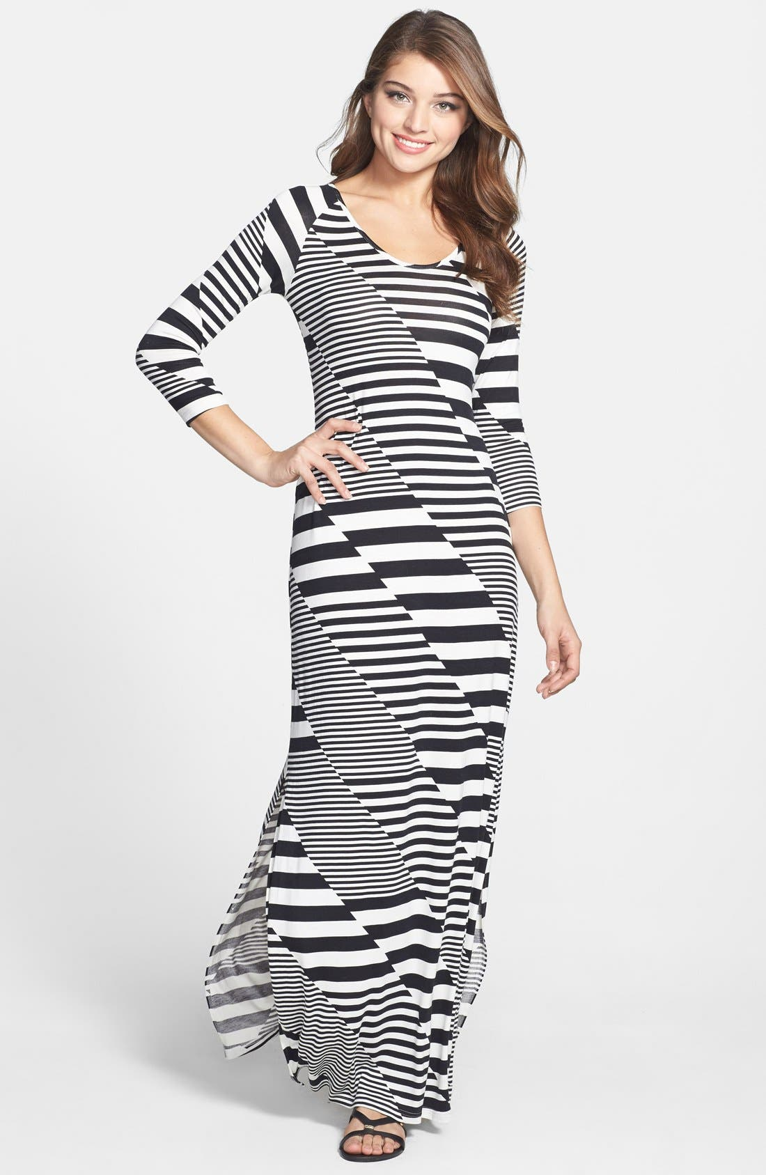 Alternate Image 1 Selected - Jessica Simpson 'Rowan' Stripe Maxi Dress