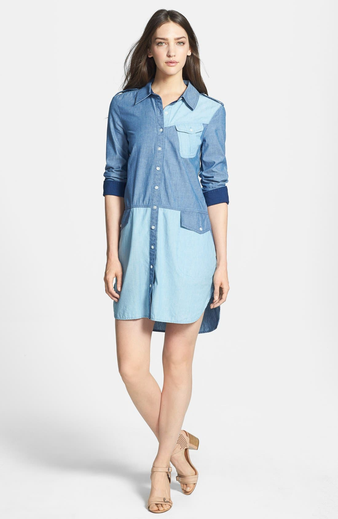 Alternate Image 1 Selected - MARC BY MARC JACOBS 'Catalina' Chambray Shirtdress
