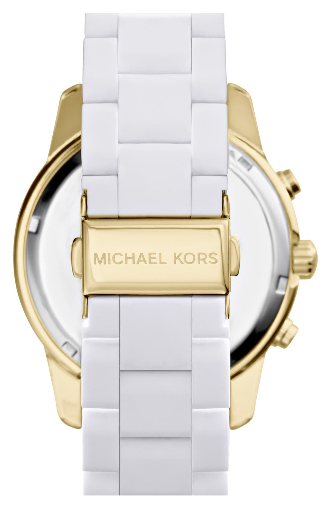 Alternate Image 2  - Michael Kors 'Mercer' Chronograph Silicone Strap Watch, 42mm
