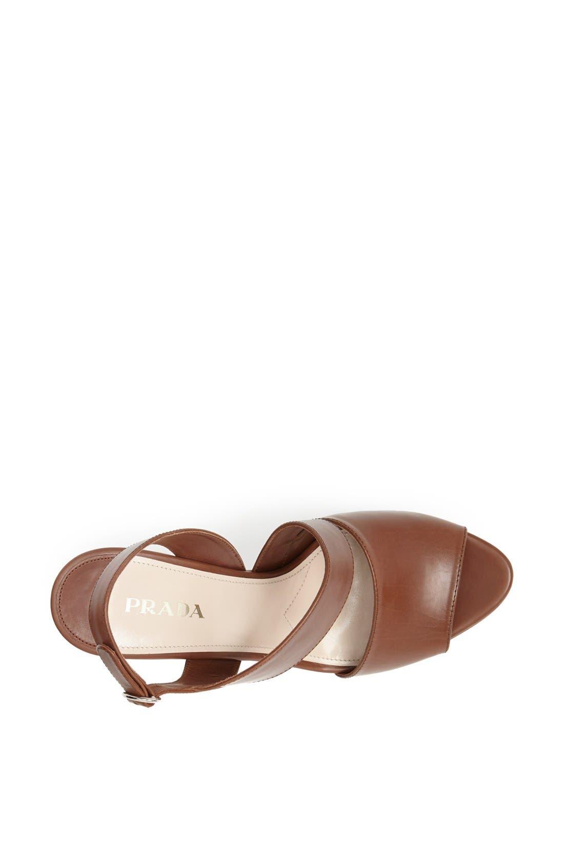 Alternate Image 3  - Prada Asymmetrical Wedge Sandal