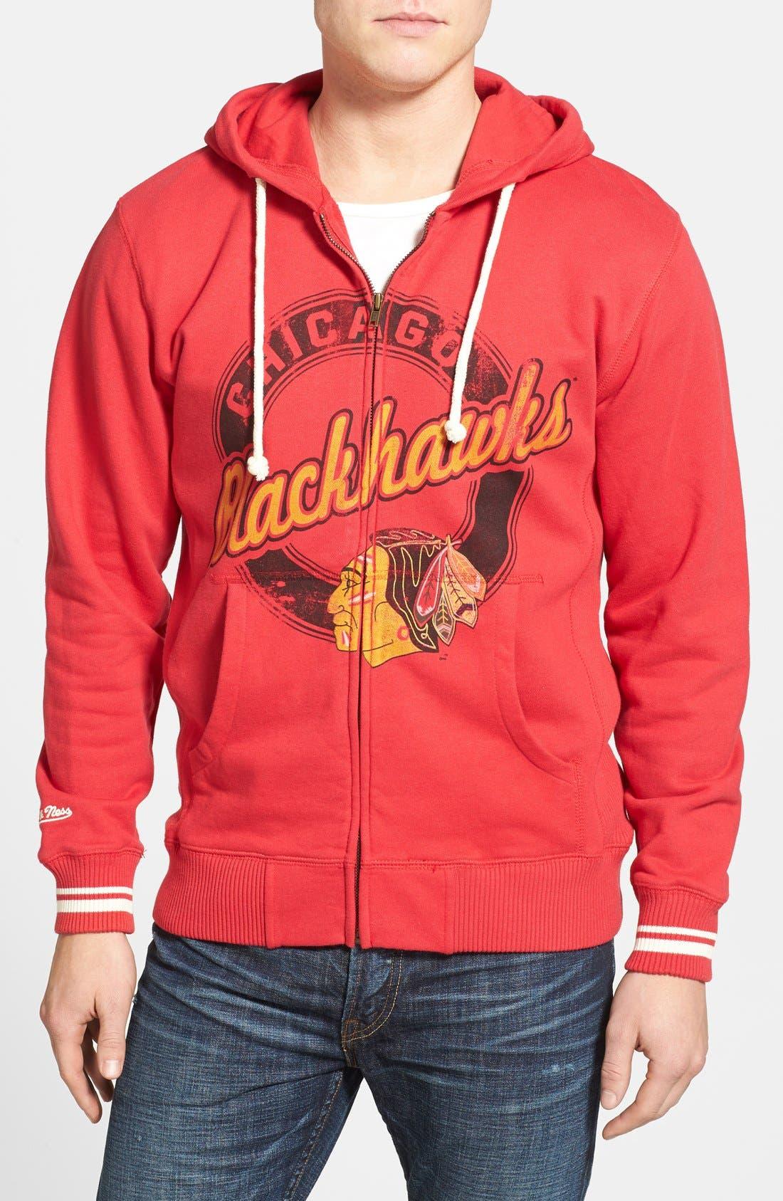 Alternate Image 1 Selected - Mitchell & Ness 'Chicago Blackhawks' Full Zip Hoodie