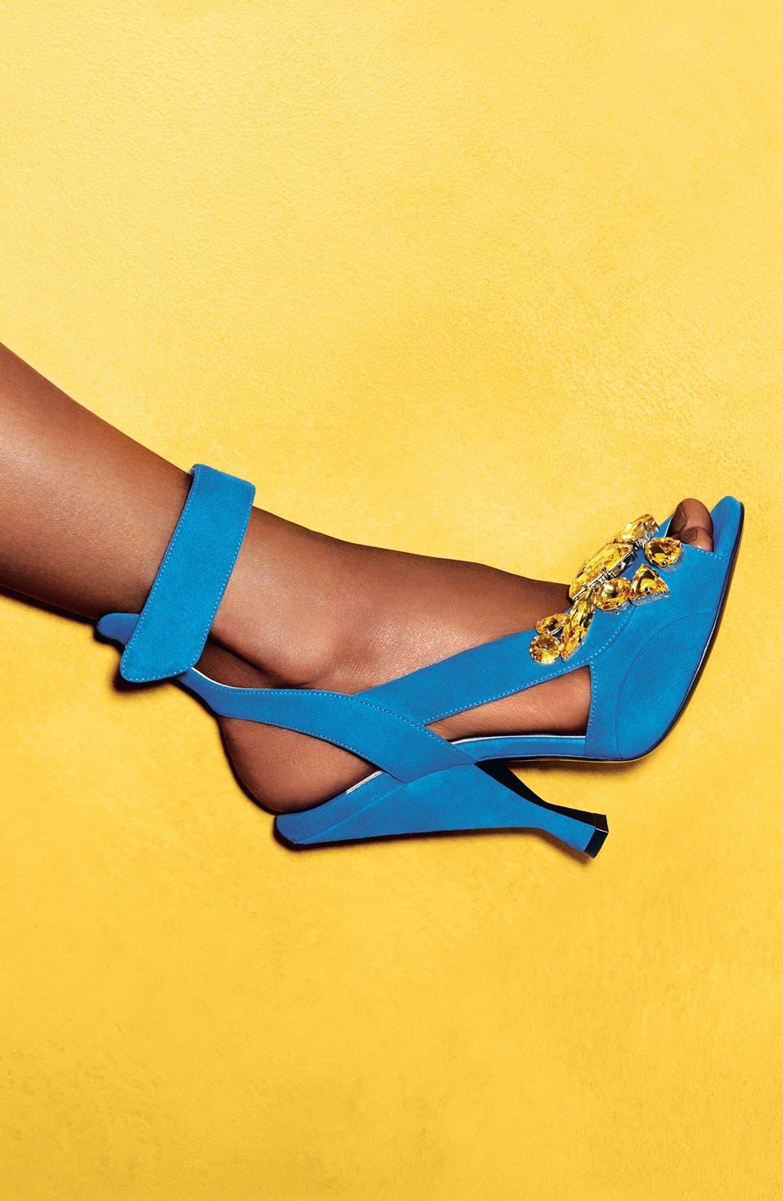 Alternate Image 2  - Prada Jeweled Ankle Strap Sandal