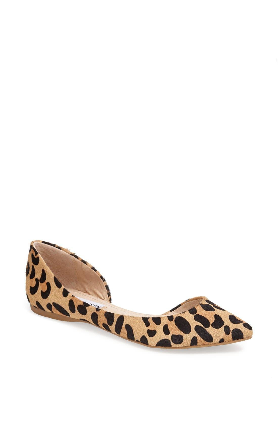 Main Image - Steve Madden 'Elusion' Leopard Print Calf Hair Half d'Orsay