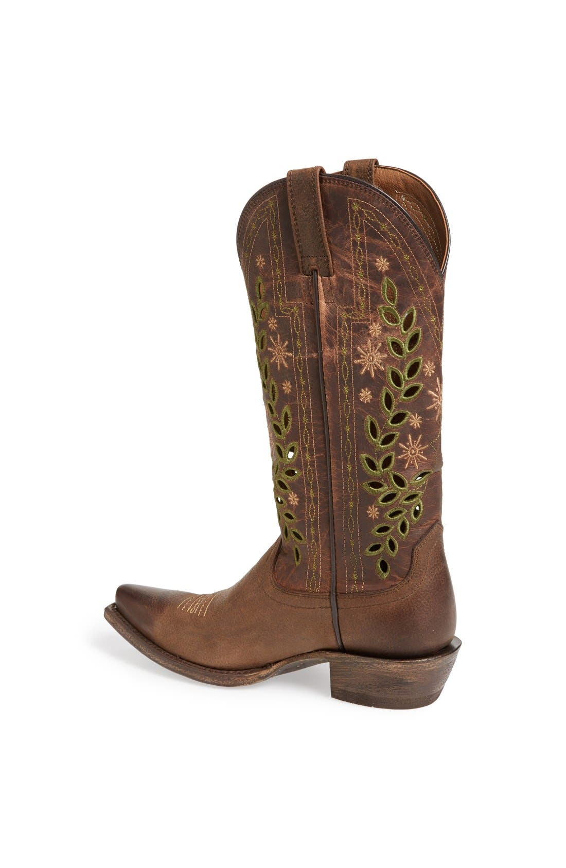 Alternate Image 2  - Ariat 'Arrosa' Embroidered Cutout Western Pointed Toe Boot