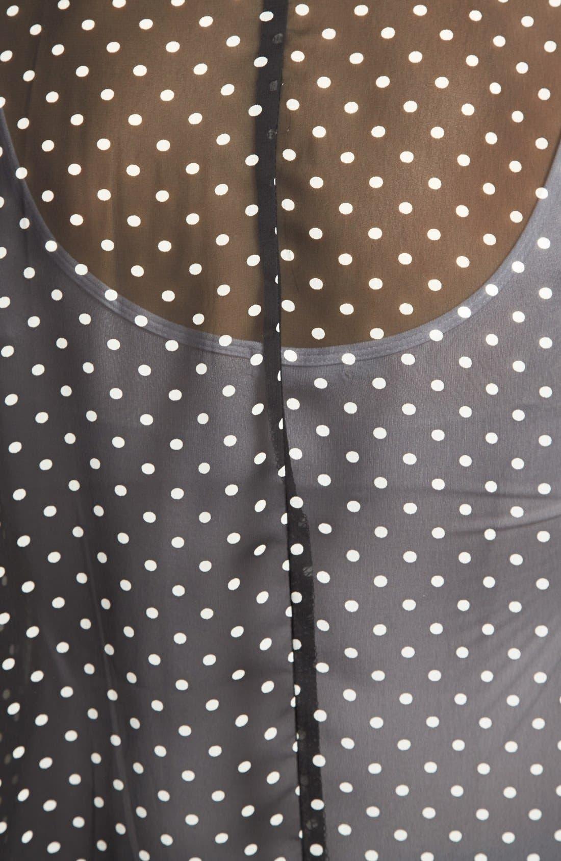 Alternate Image 3  - Olivia Moon Mixed Print Sheer Tee