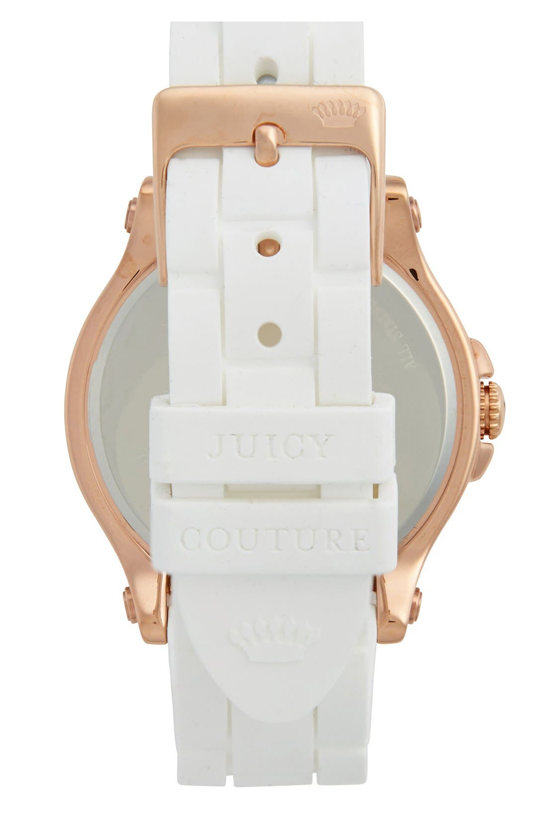 Alternate Image 2  - Juicy Couture 'Pedigree' Jelly Strap Watch, 38mm