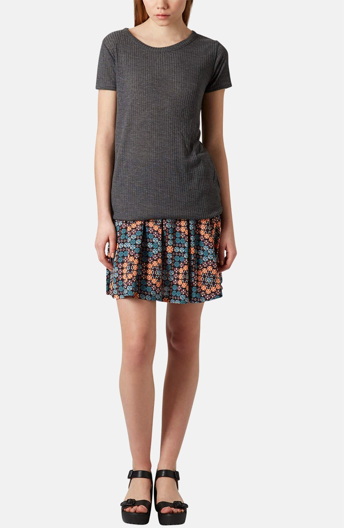 Alternate Image 5  - Topshop 'Milly' Tile Print Skirt