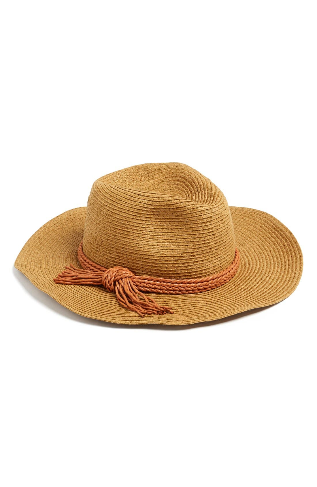 Alternate Image 1 Selected - David & Young Wide Brim Straw Hat (Juniors) (Online Only)