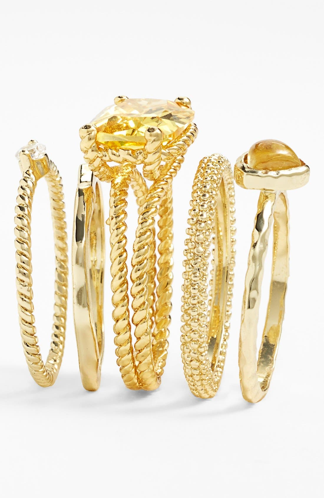 Alternate Image 2  - Ariella Collection Stackable Rings (Set of 5)