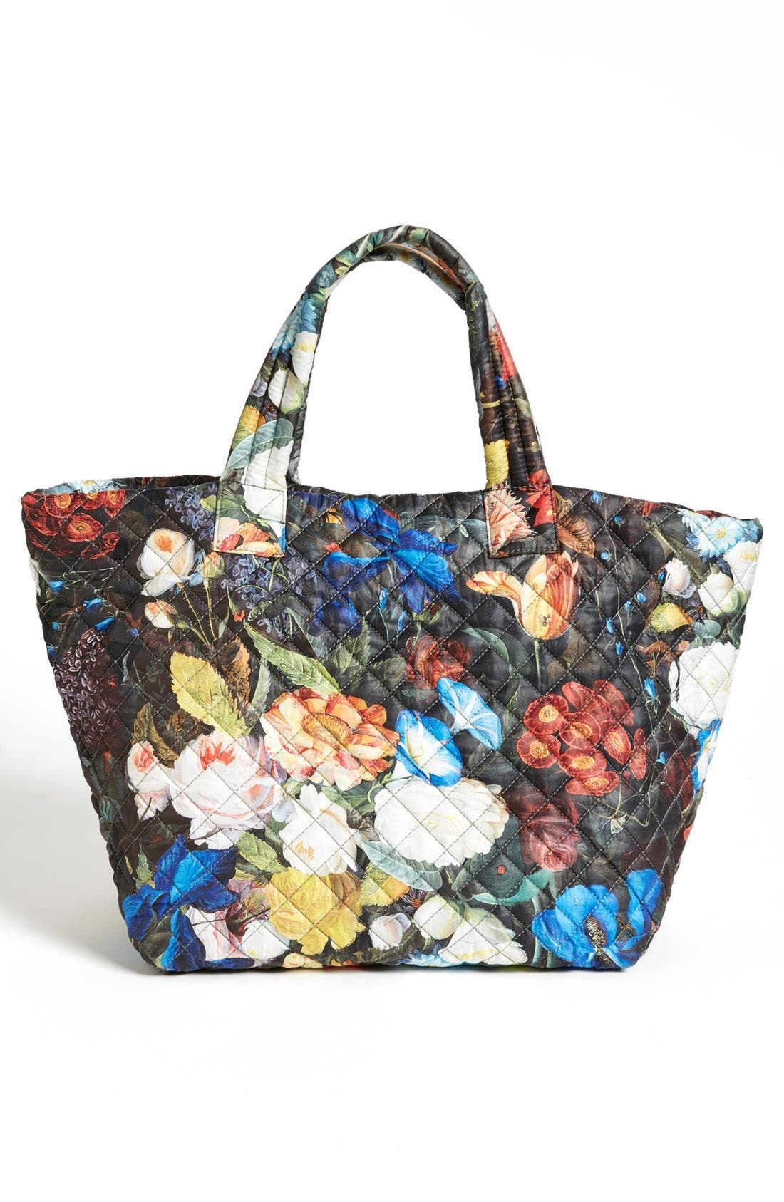Alternate Image 4  - MZ Wallace 'Medium Floral Oxford - Metro' Quilted Tote (Nordstrom Exclusive)