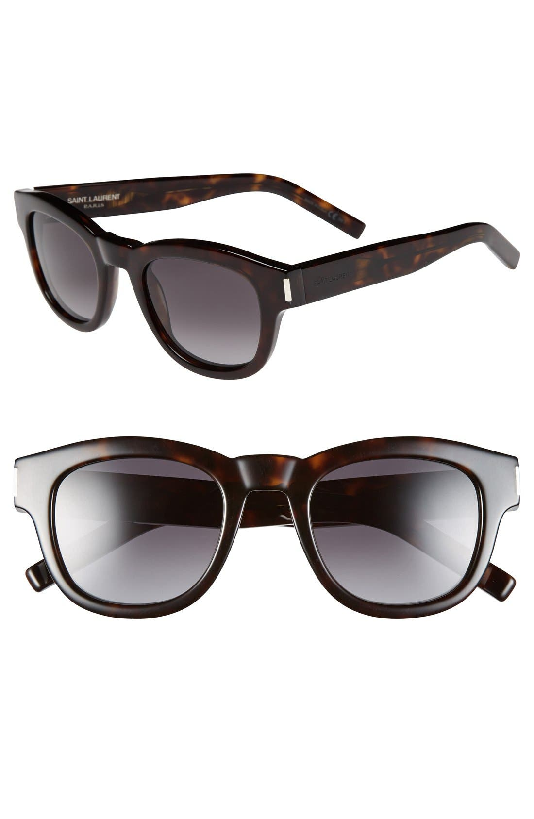 Alternate Image 1 Selected - Saint Laurent 49mm Retro Sunglasses