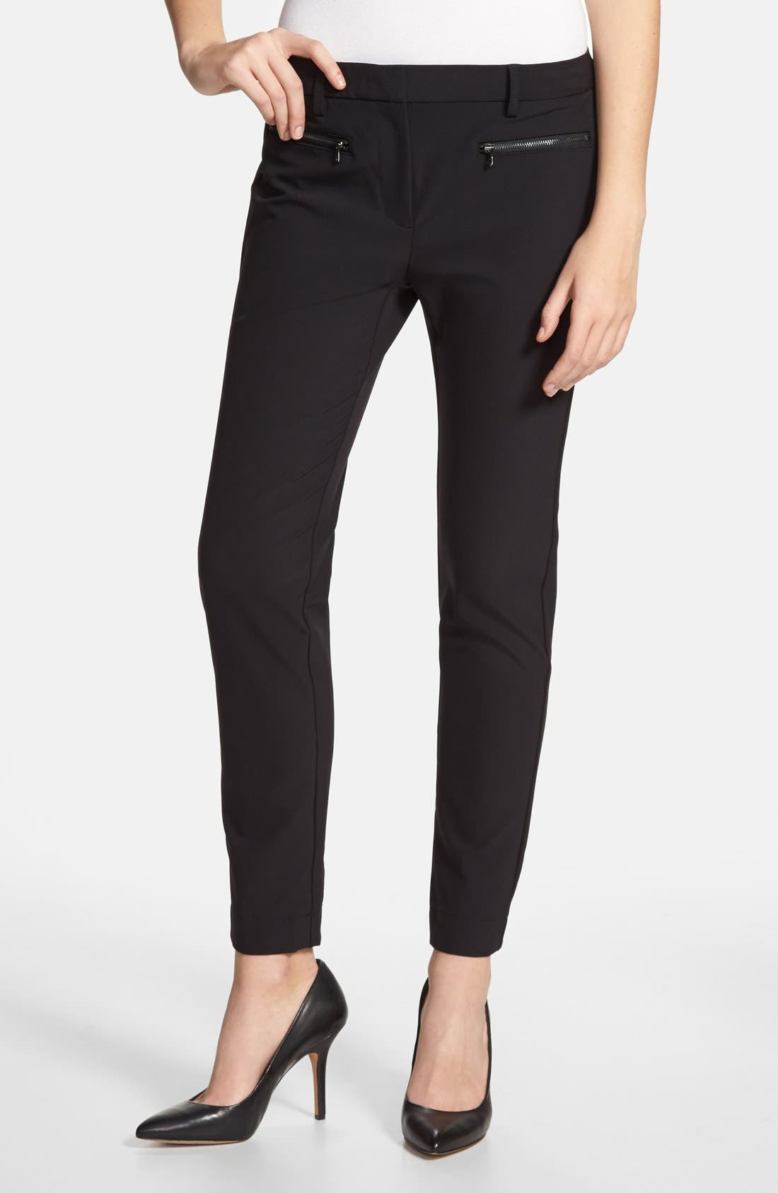 Alternate Image 1 Selected - Kenneth Cole New York 'Alison' Zip Pocket Pants (Regular & Petite)