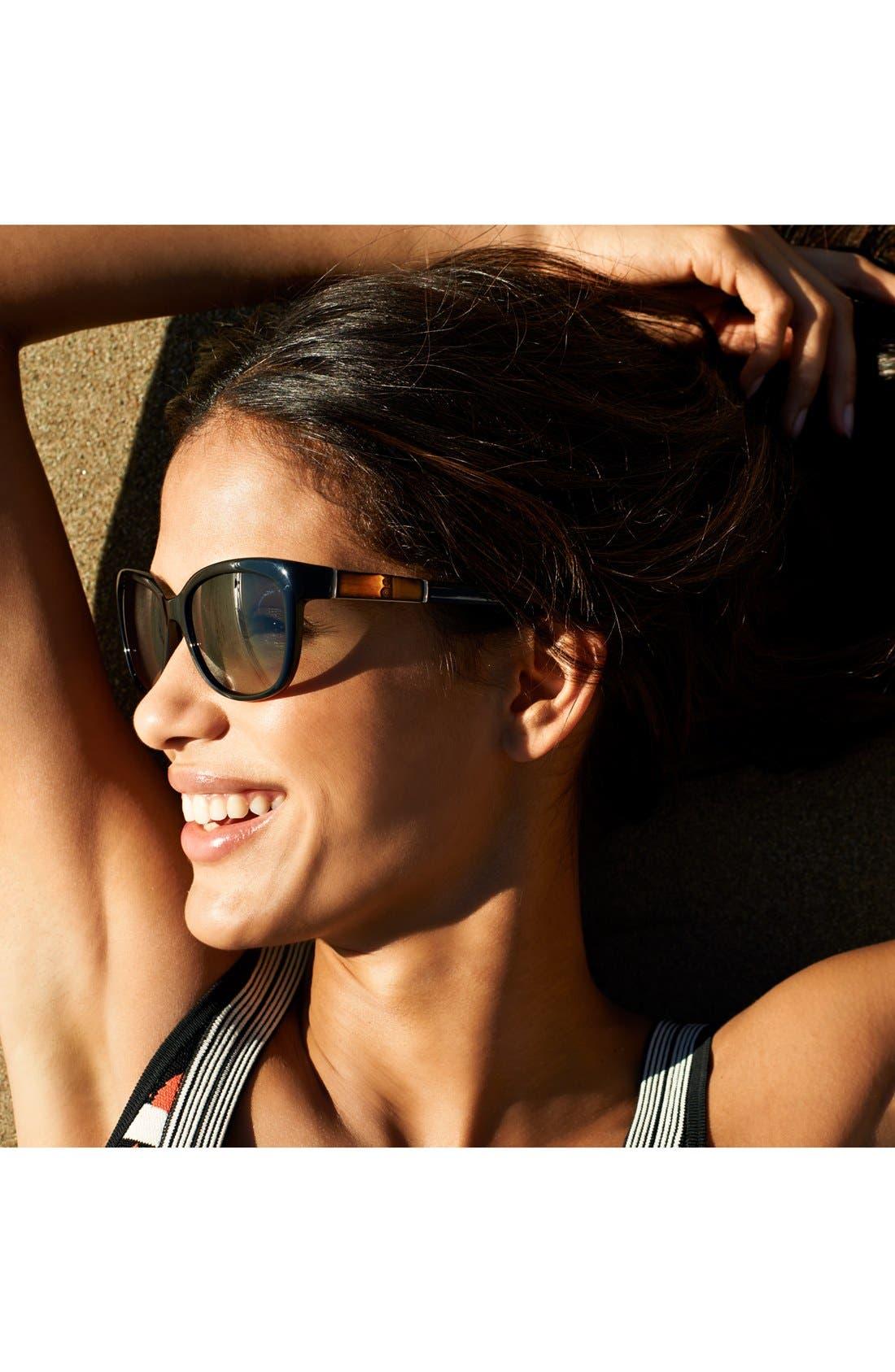 Alternate Image 2  - Gucci 55mm Bamboo Temple Sunglasses