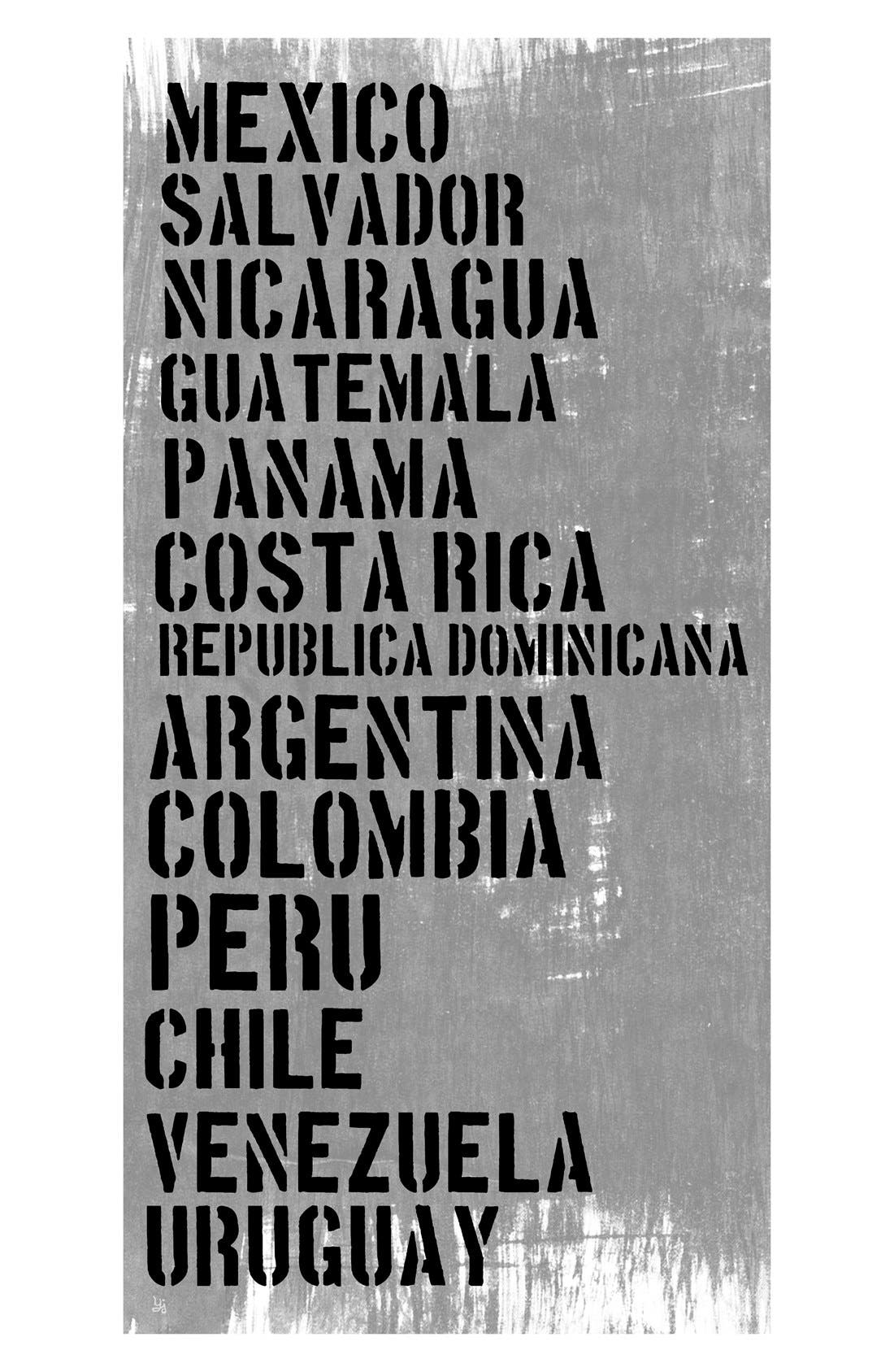Main Image - Green Leaf Art 'South & Central American Countries' Wall Art