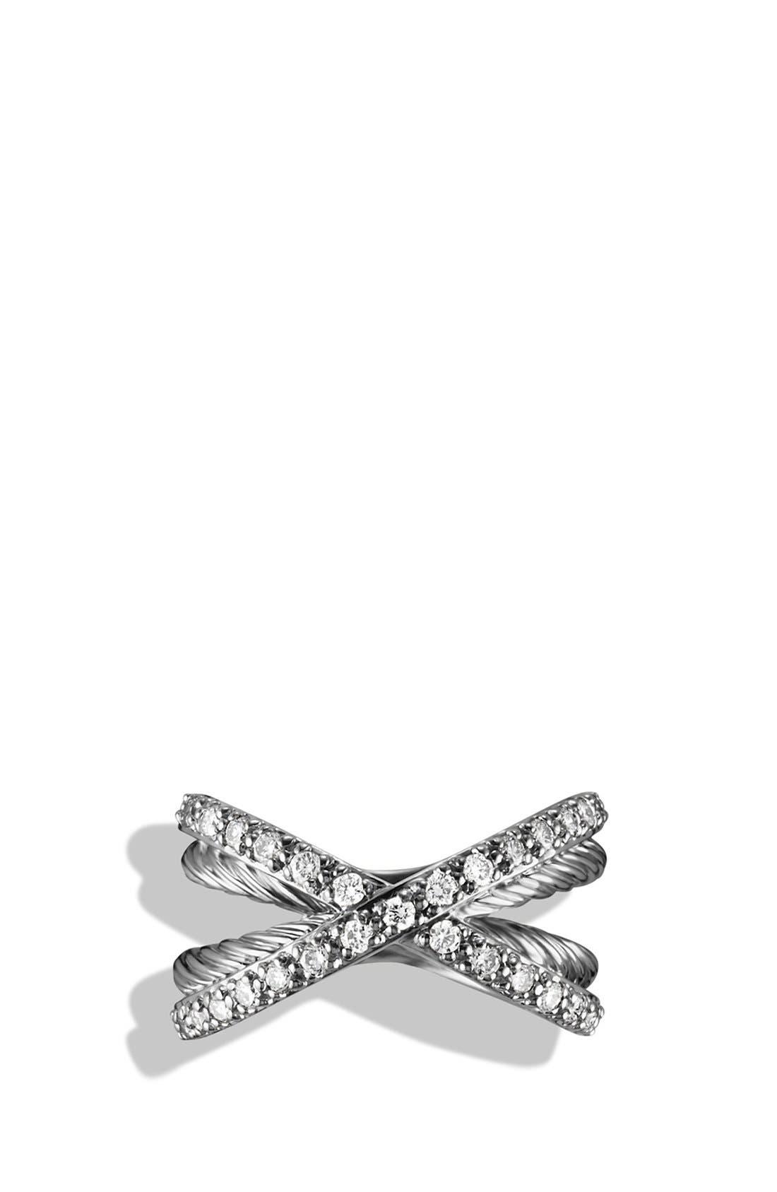 Alternate Image 3  - David Yurman 'Crossover' Pavé Diamond Ring