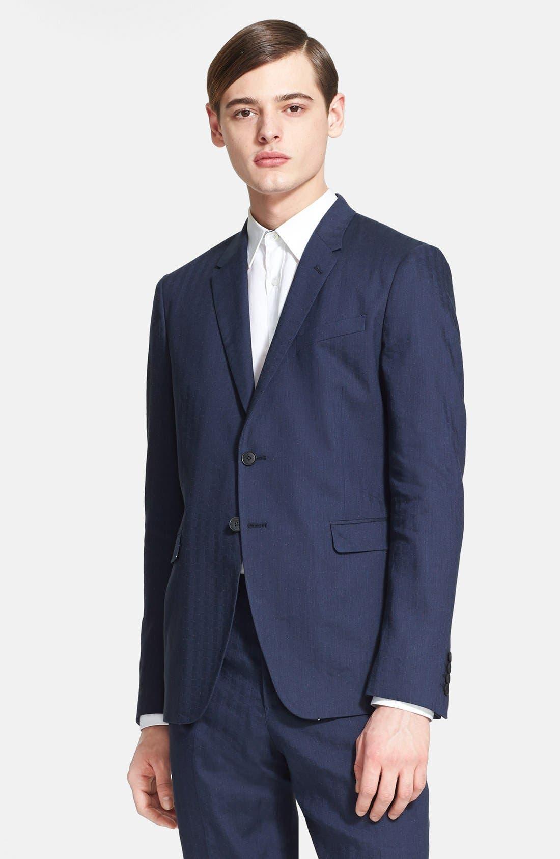 Alternate Image 3  - Paul Smith London 'Kensington' Dot Check Linen Blend Suit