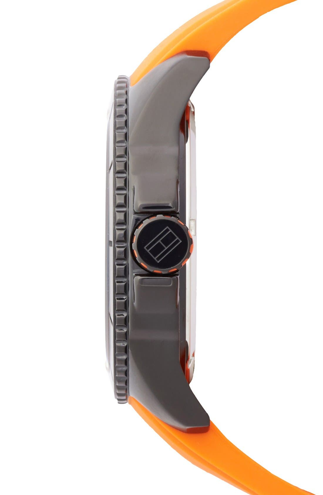 Alternate Image 3  - Tommy Hilfiger Carbon Fiber Dial Silicone Strap Watch, 48mm
