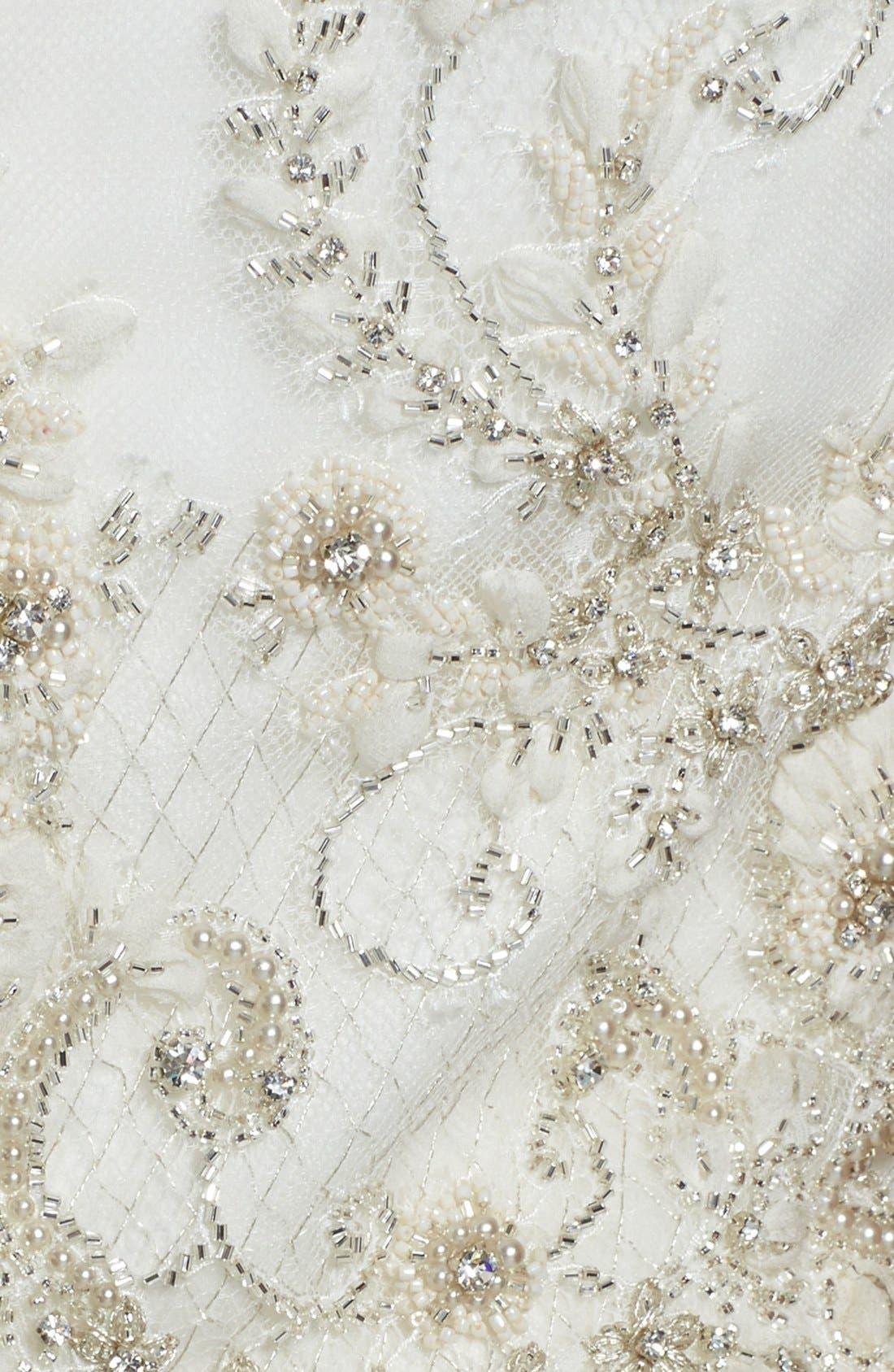 Alternate Image 3  - Badgley Mischka Bridal 'Lana' Embellished Silk Organza Dress (In Stores Only)