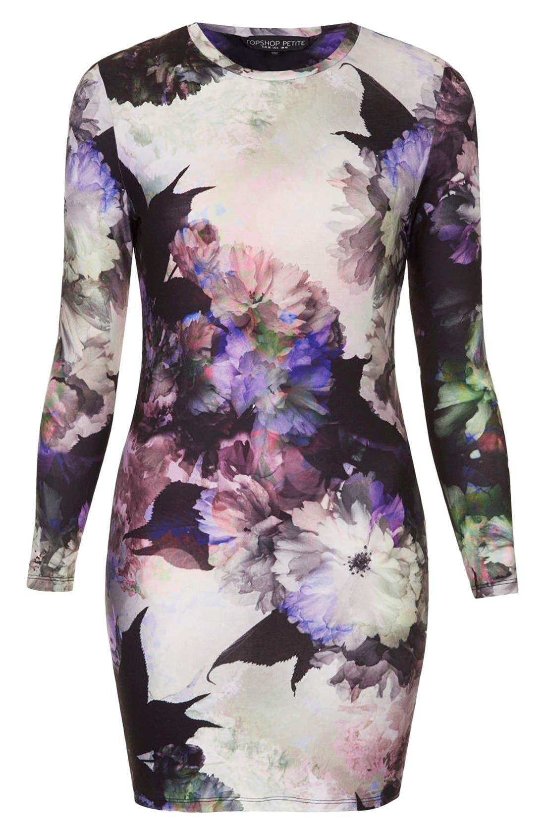 Alternate Image 3  - Topshop Floral Print Body-Con Dress (Petite)